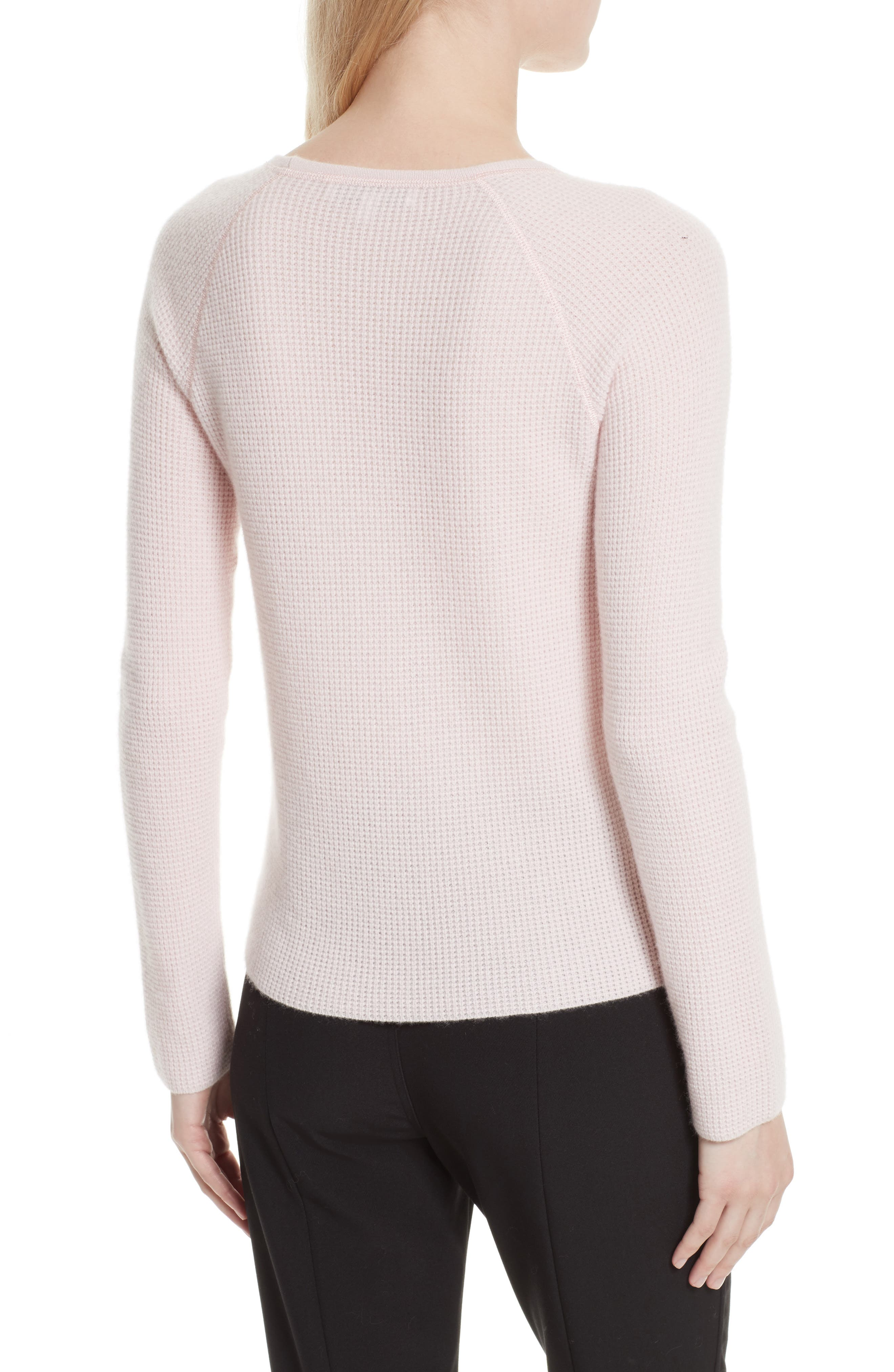 Alternate Image 2  - Elizabeth and James Karina Waffle Knit Cashmere Sweater