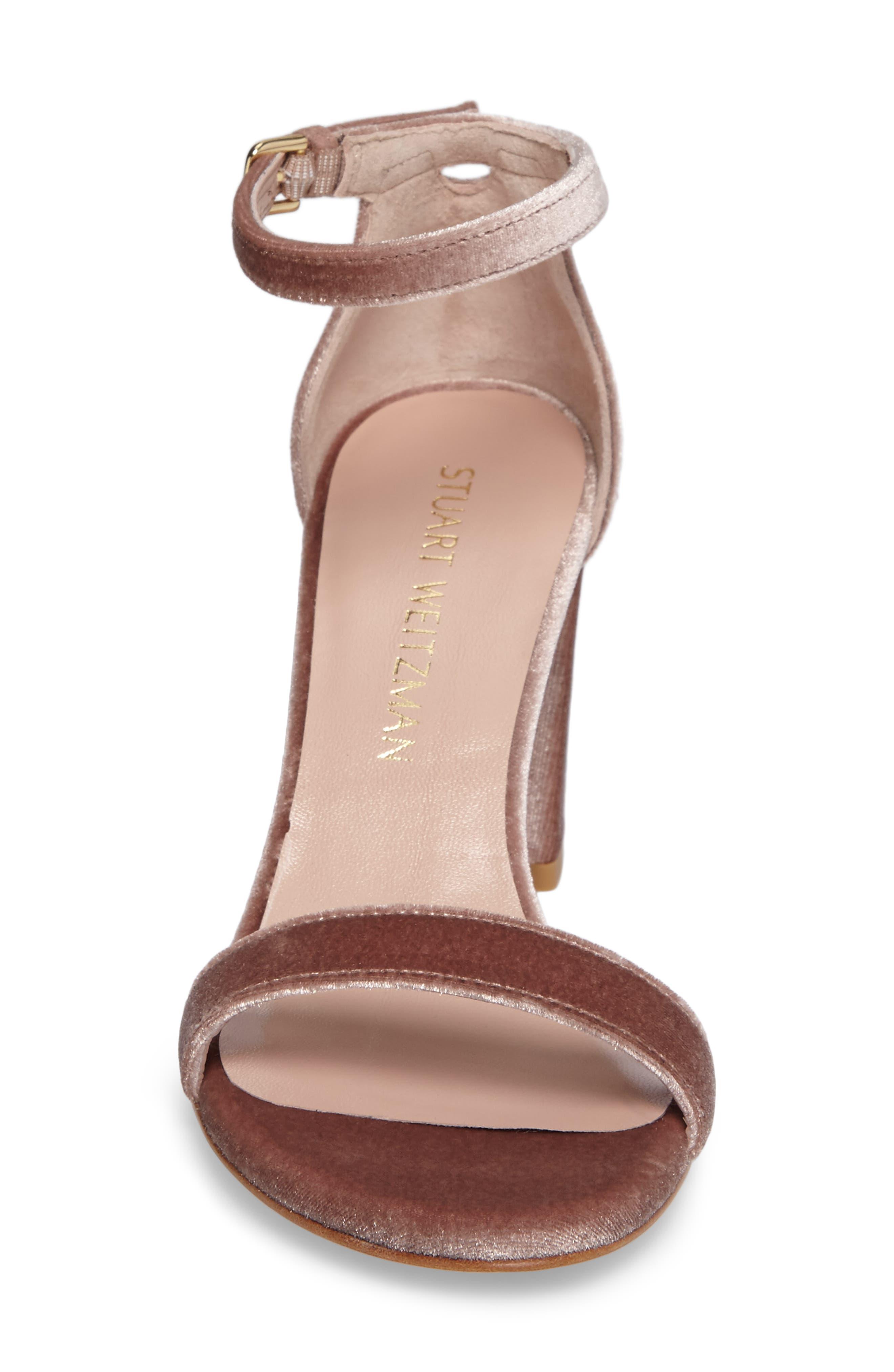 NearlyNude Ankle Strap Sandal,                             Alternate thumbnail 5, color,                             Candy Velvet
