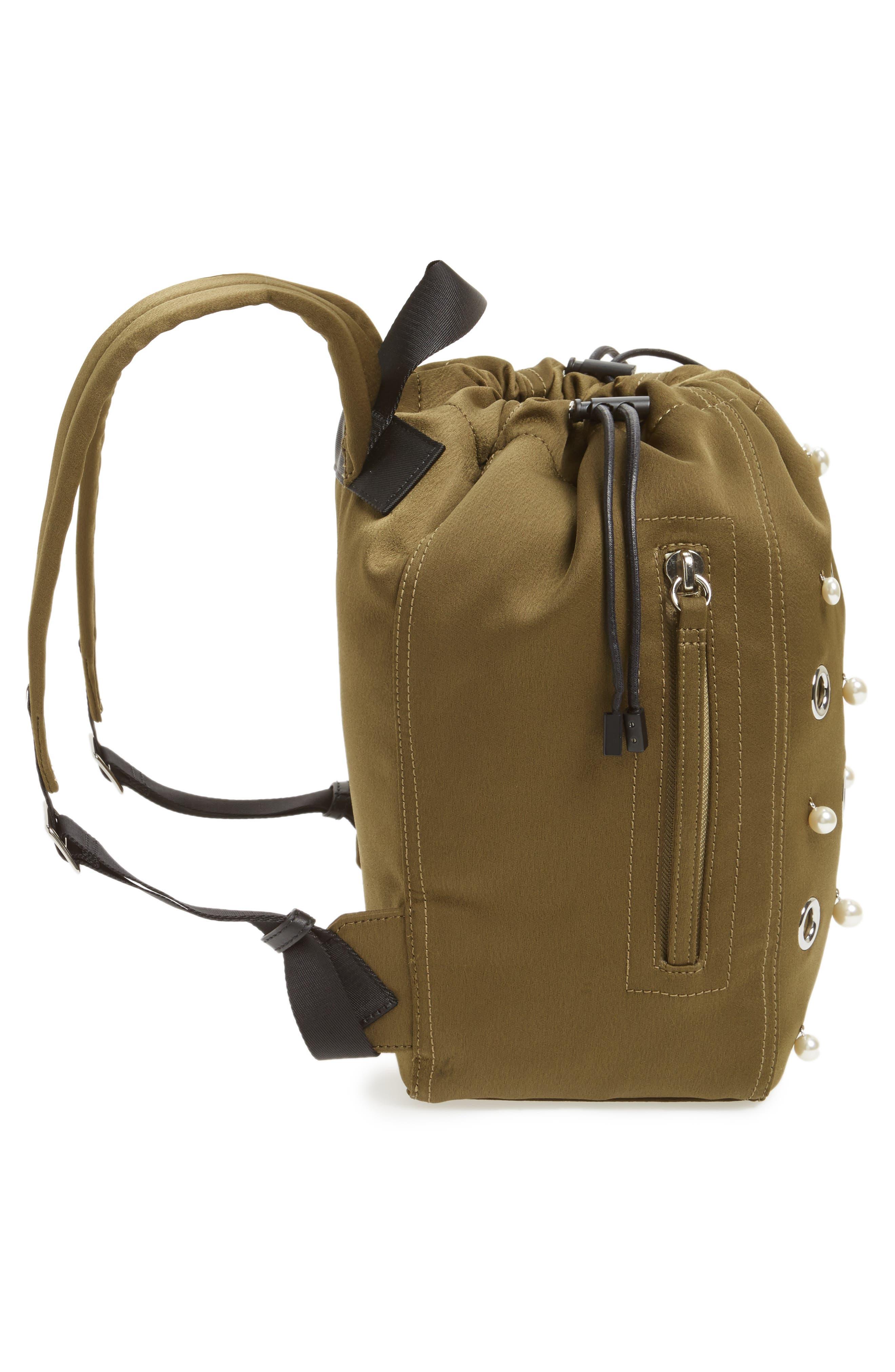 Phillip Lim 3.1 Medium Go-Go Embellished Backpack,                             Alternate thumbnail 5, color,                             Moss