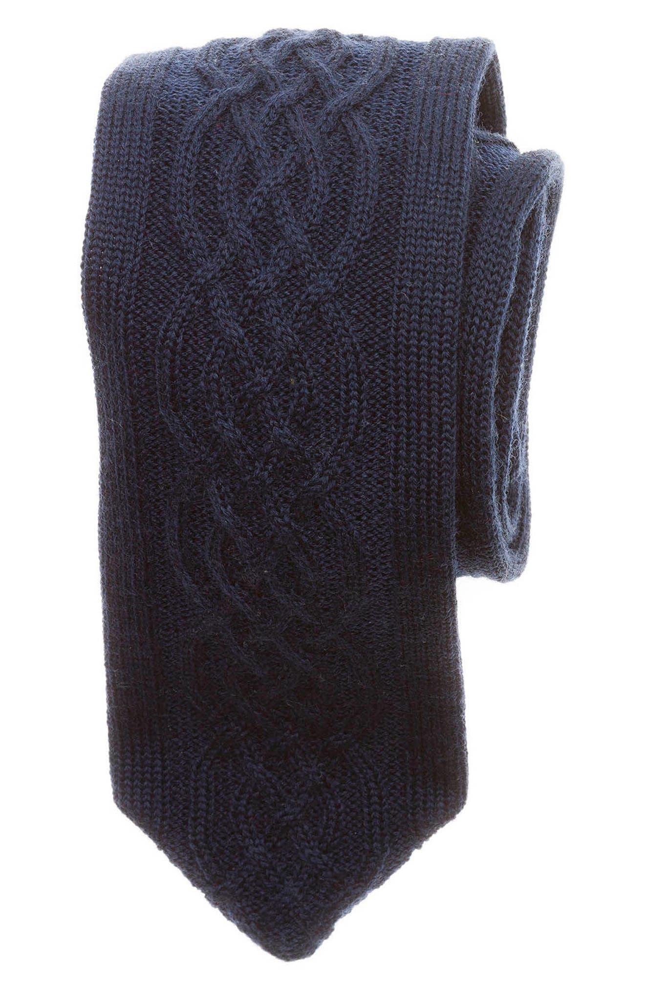Main Image - hook + ALBERT Cable Knit Wool Tie