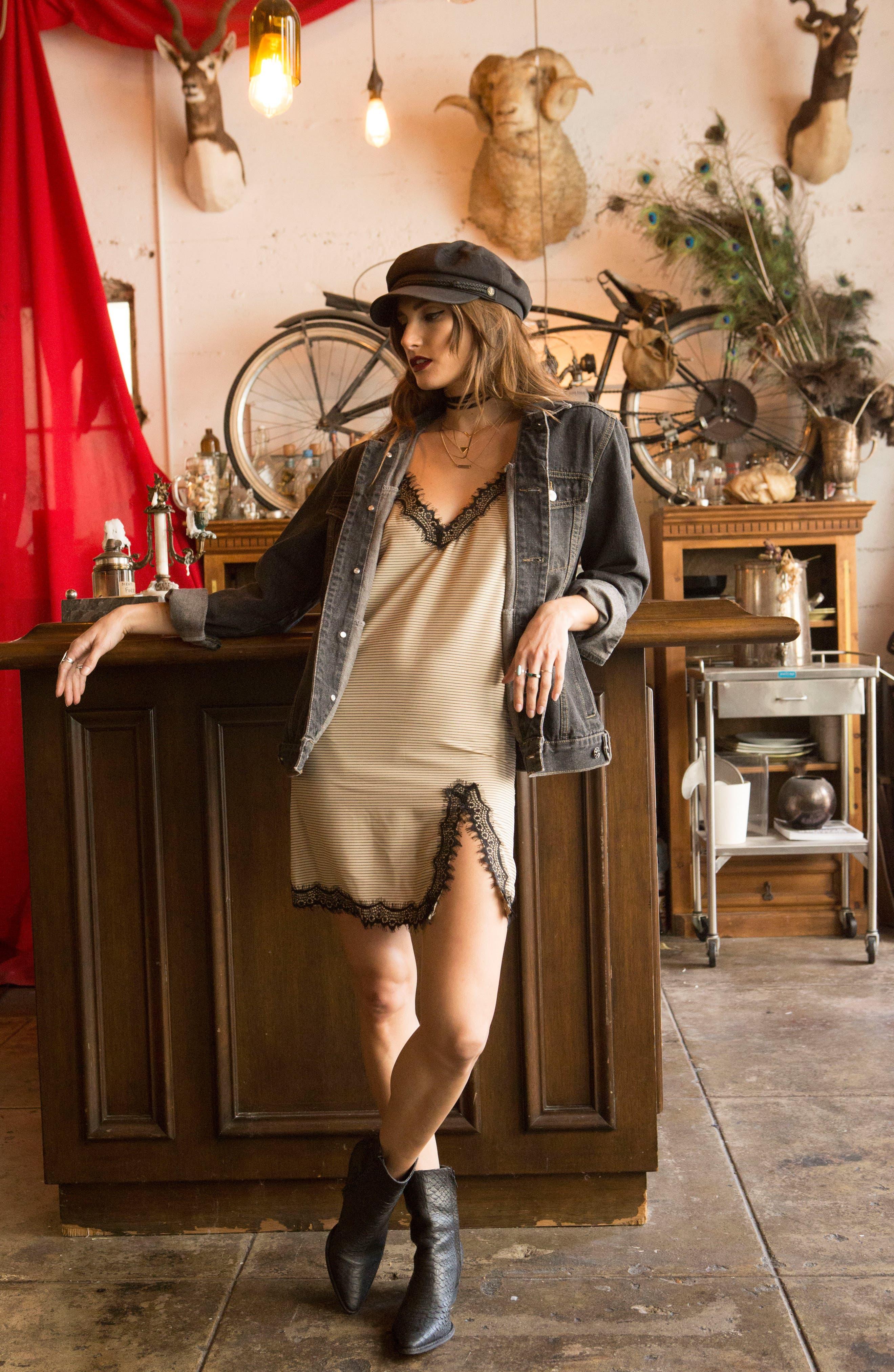 Alternate Image 2  - Lira Clothing Girl Gang Denim Jacket
