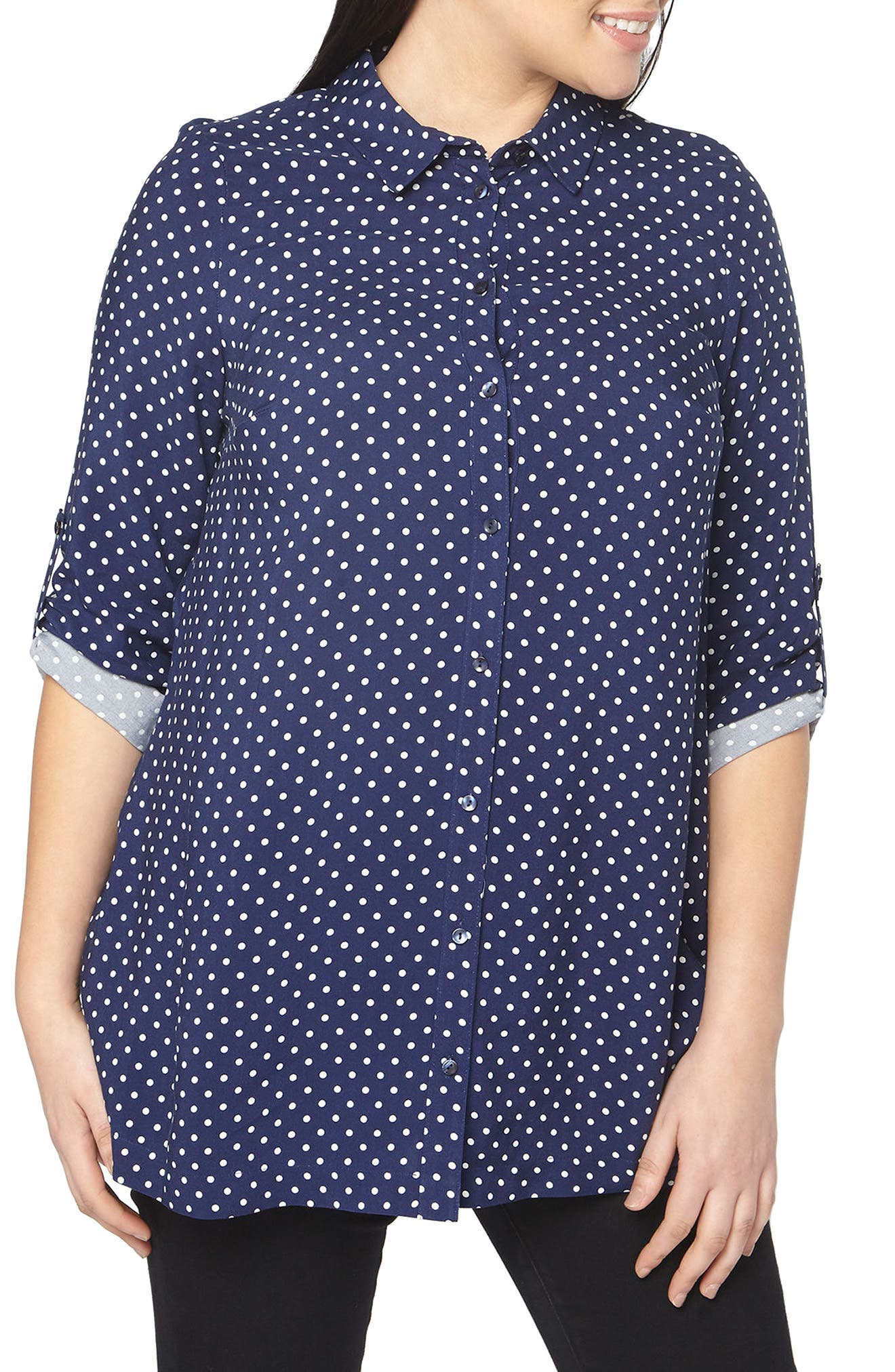 Evans Polka Dot Shirt (Plus Size)