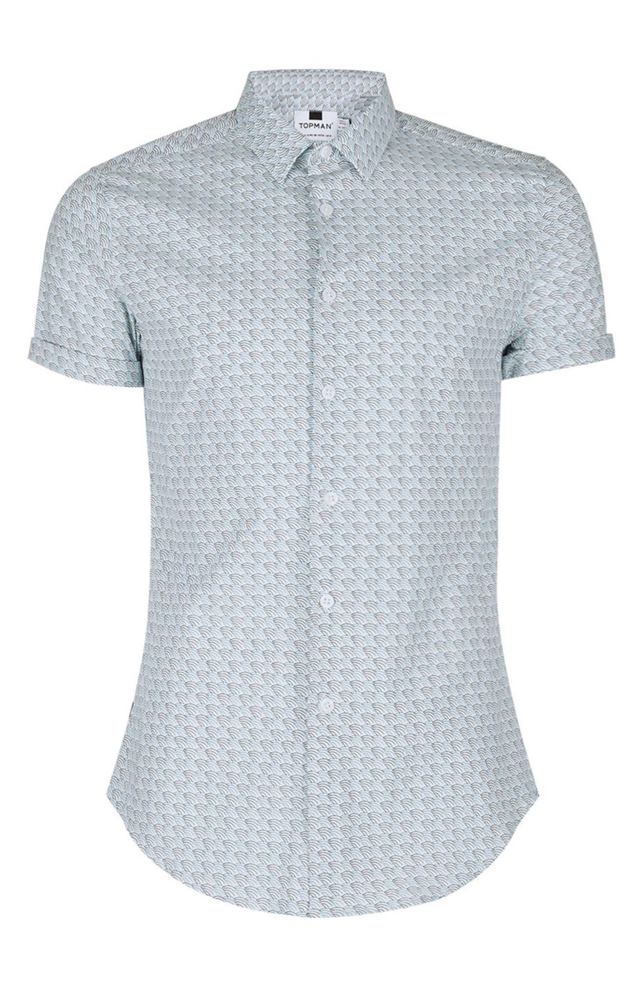 Alternate Image 5  - Topman Waves Print Shirt