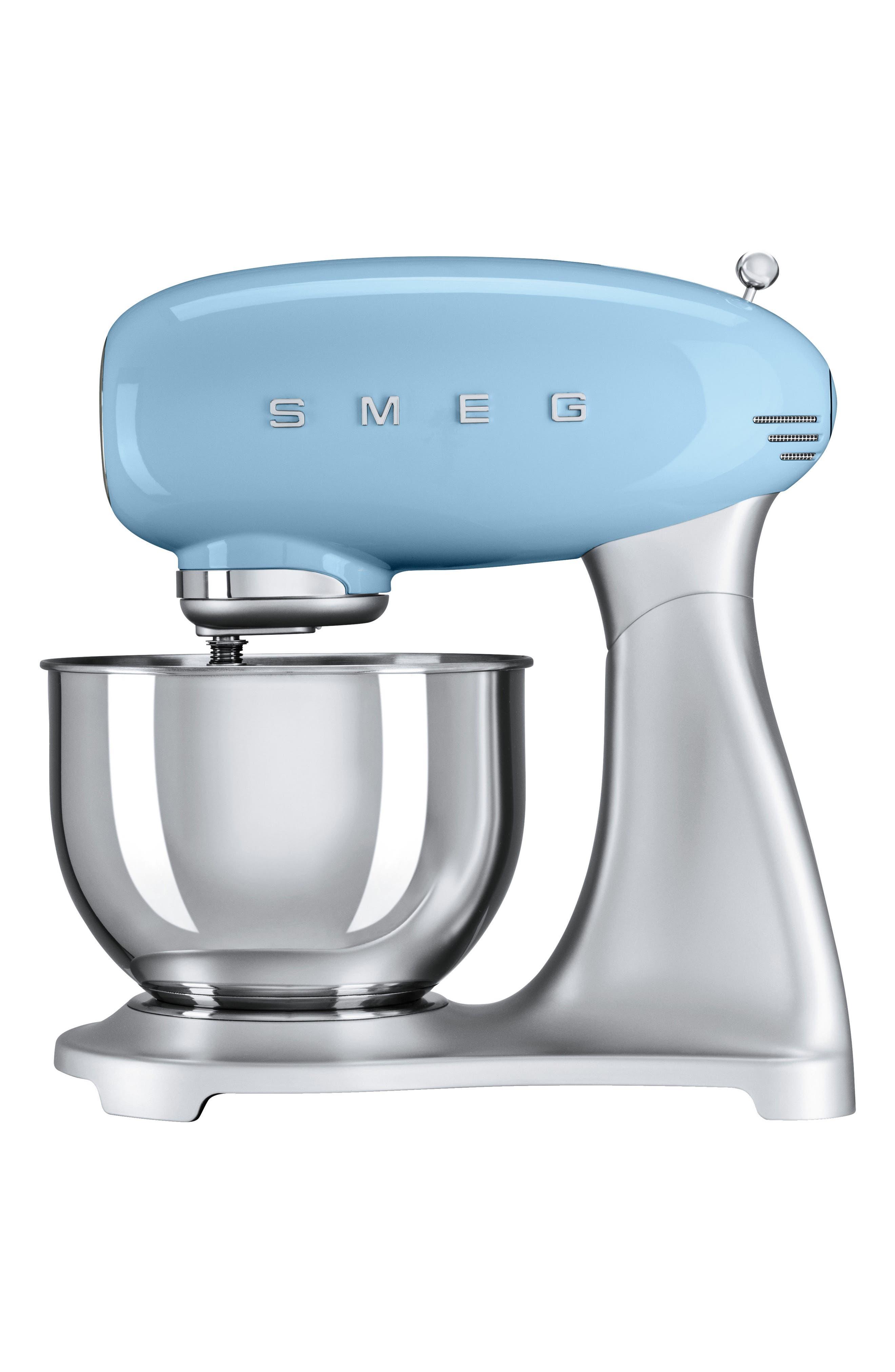 50s Retro Style Five-Quart Stand Mixer,                         Main,                         color, Pastel Blue