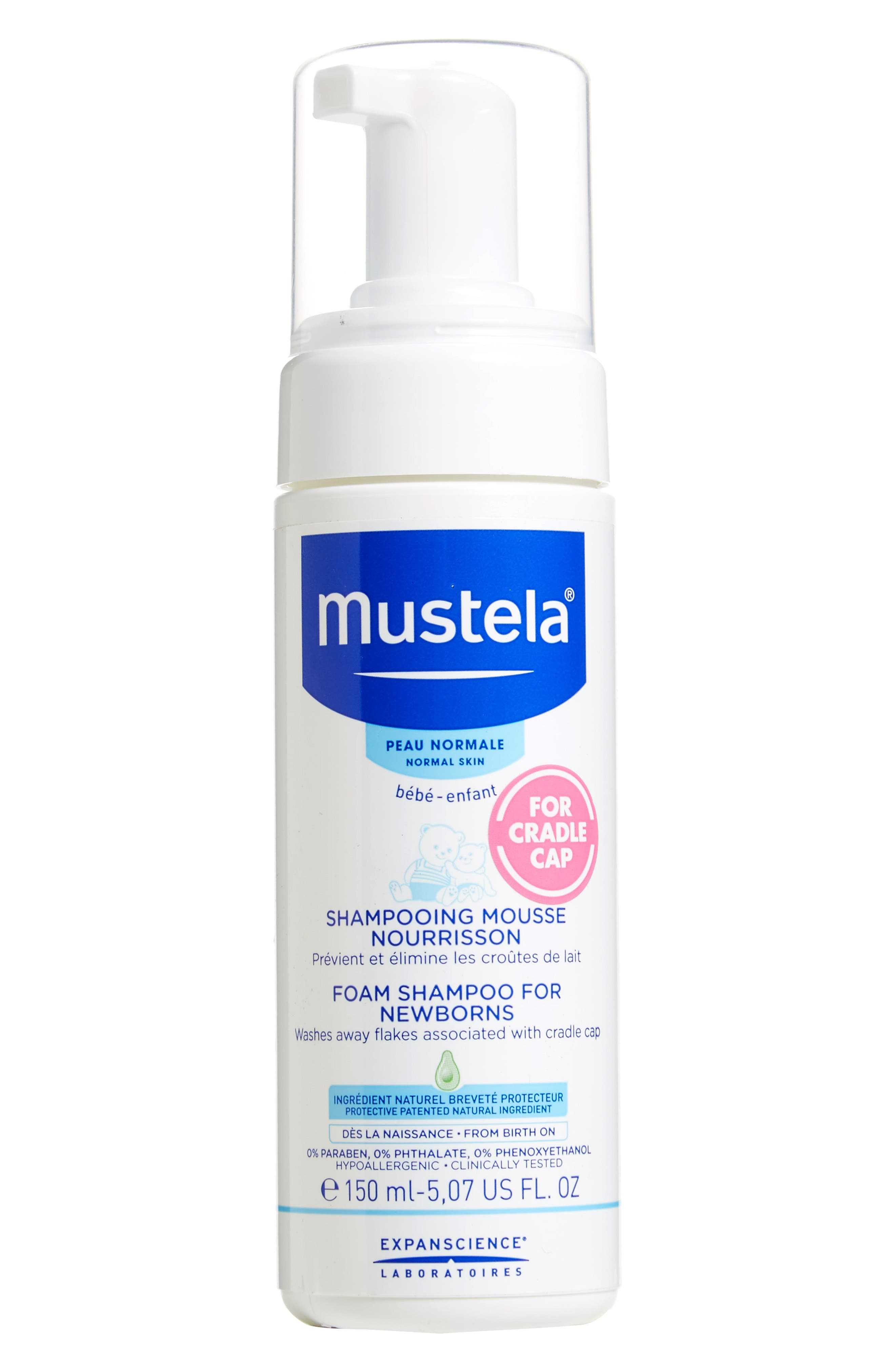 Mustela® Foam Shampoo for Newborns