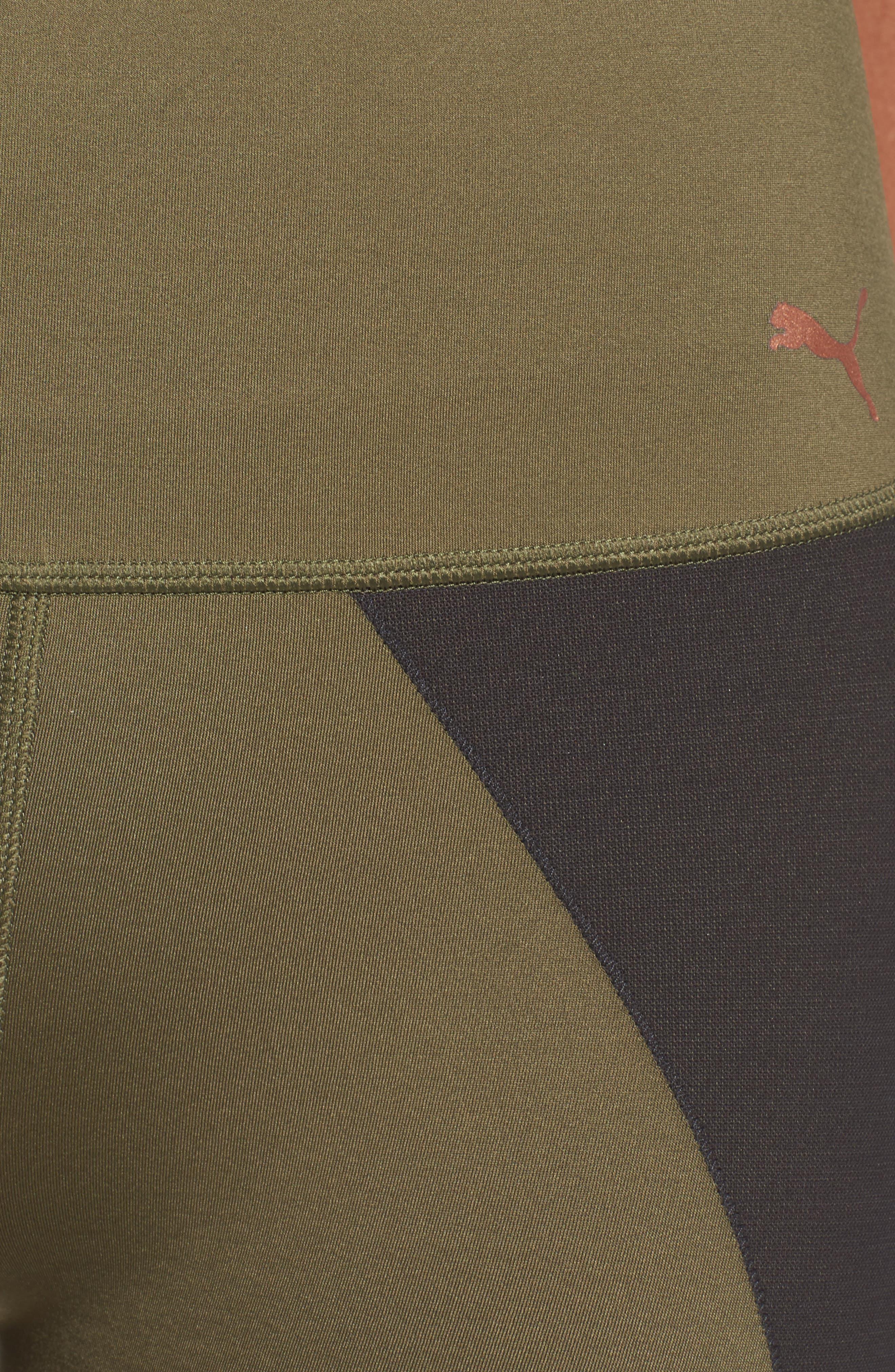 Powershape High Waist Leggings,                             Alternate thumbnail 6, color,                             Olive Night