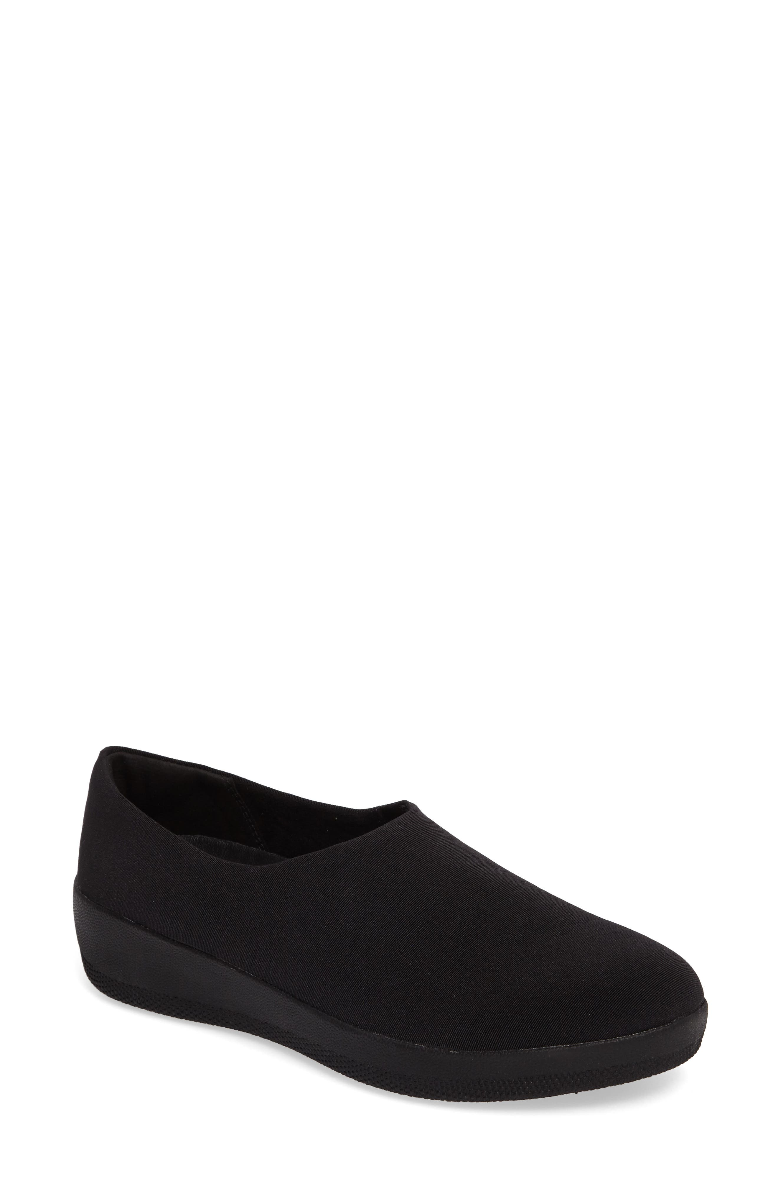 Superstretch Bobby Loafer,                             Main thumbnail 1, color,                             All Black Faux Leather