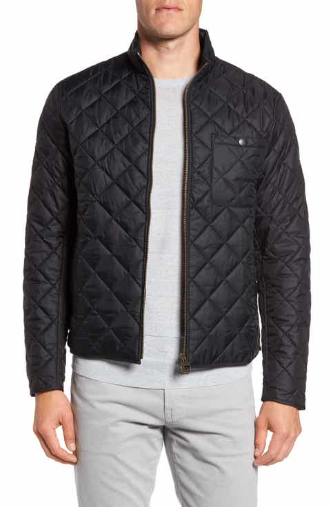 Men's Barbour Black Outerwear & Clothing Sale | Nordstrom : mens slim fit quilted jacket - Adamdwight.com