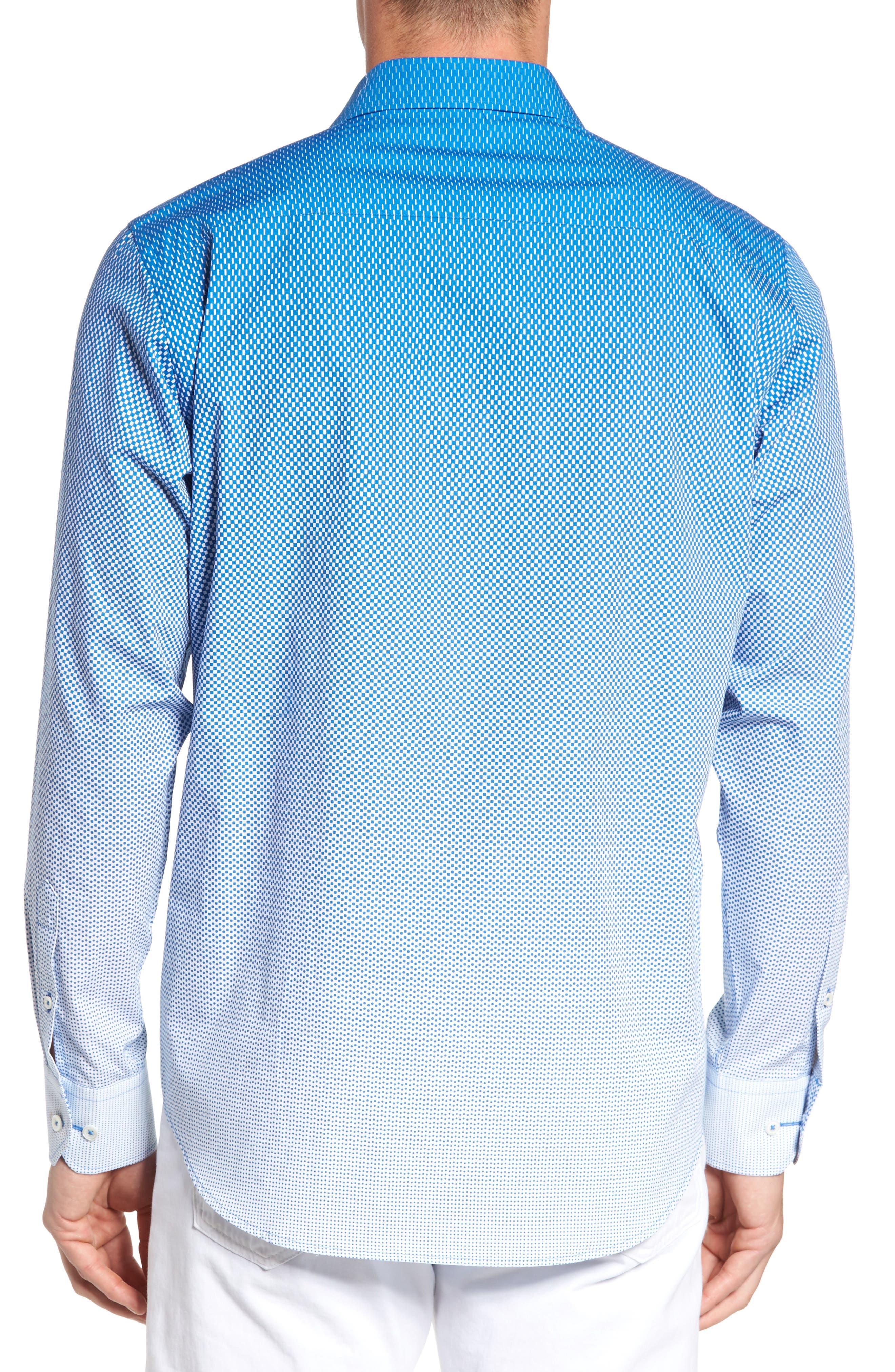 Alternate Image 2  - Bugatchi Print Sport Shirt