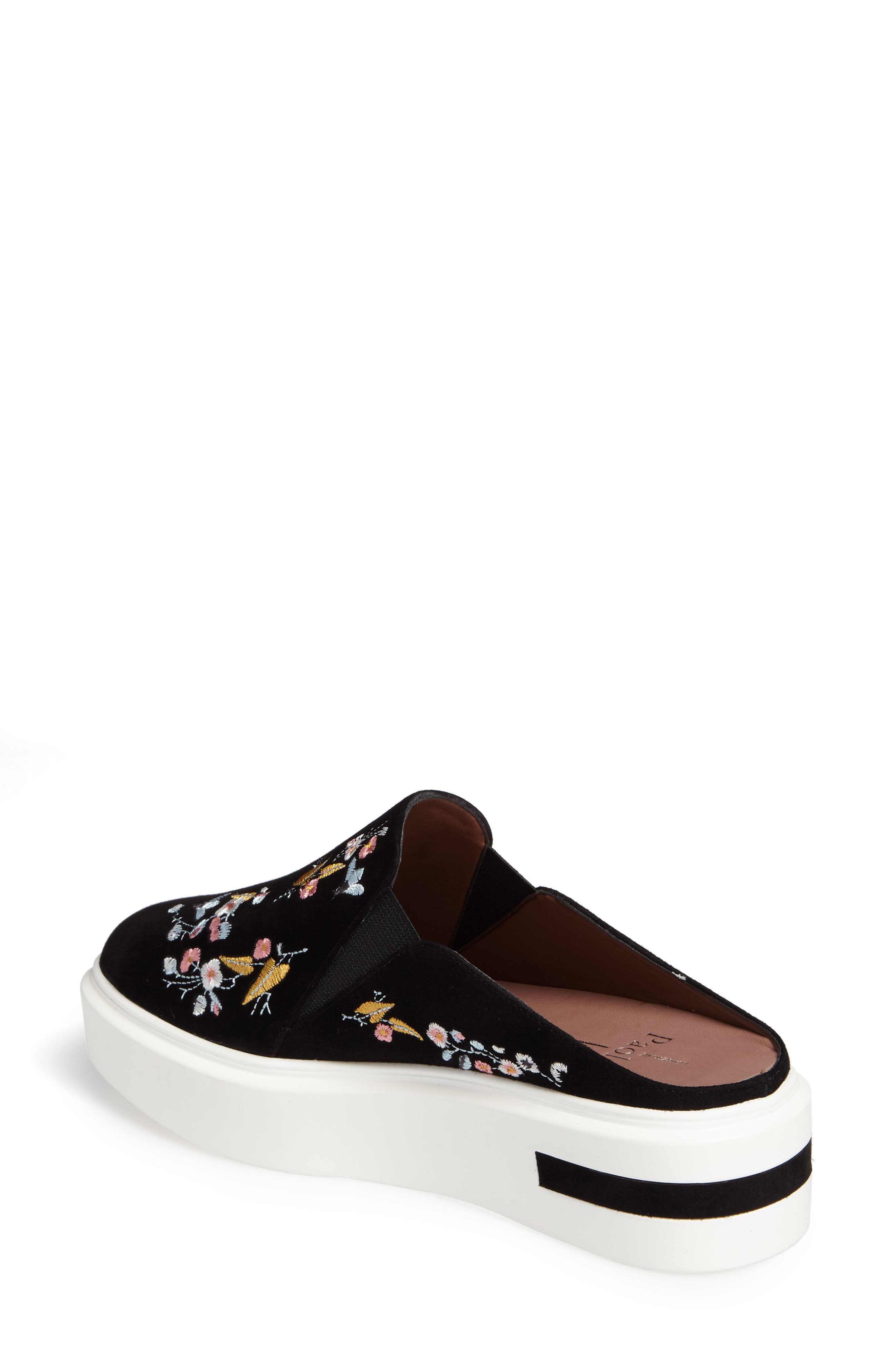 Alternate Image 2  - Linea Paolo Fab II Embroidered Platform Sneaker (Women)