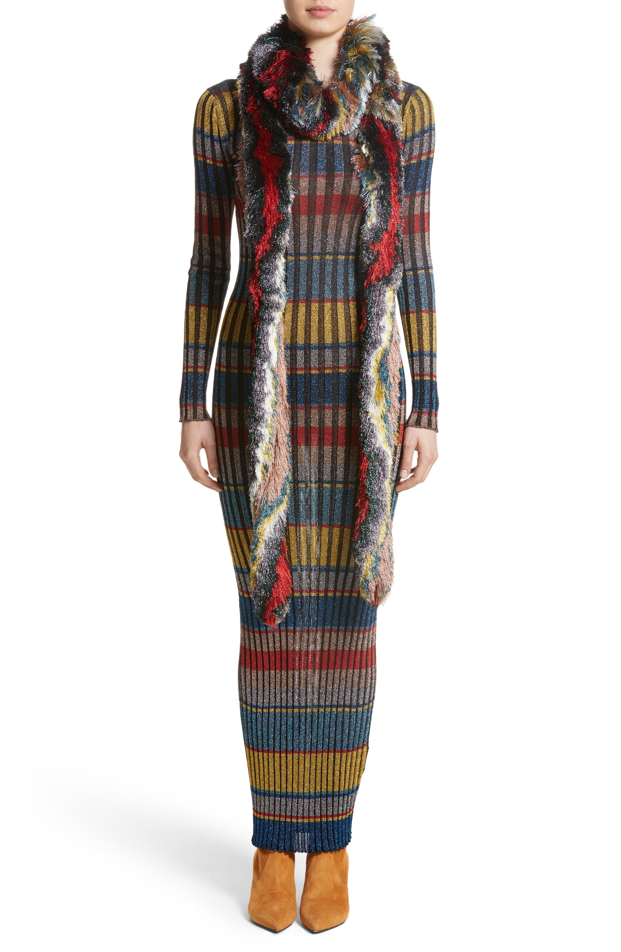 Alternate Image 6  - Missoni Metallic Stripe Knit Maxi Dress