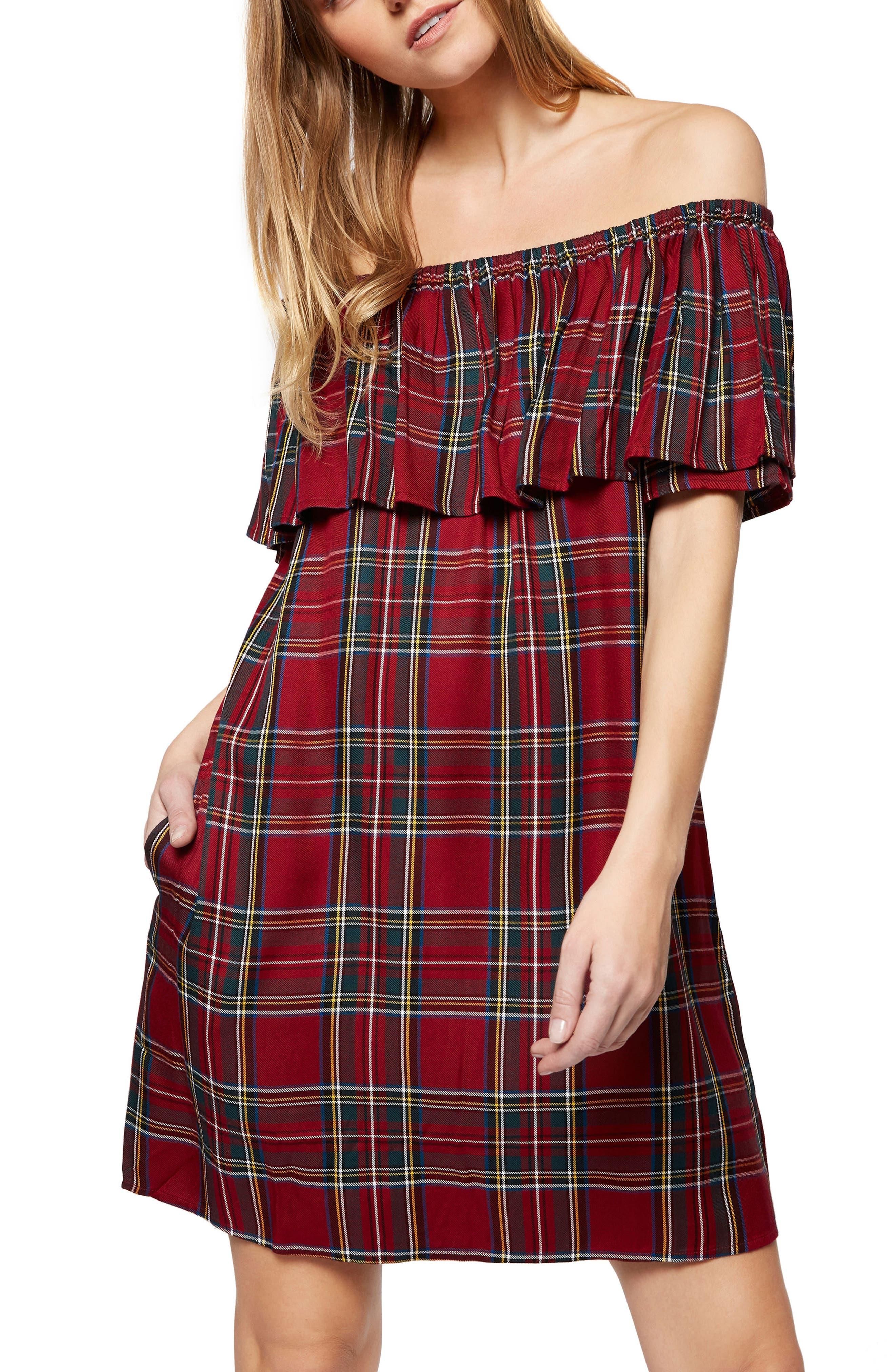 Alternate Image 3  - Sanctuary Stella Plaid Off the Shoulder Dress