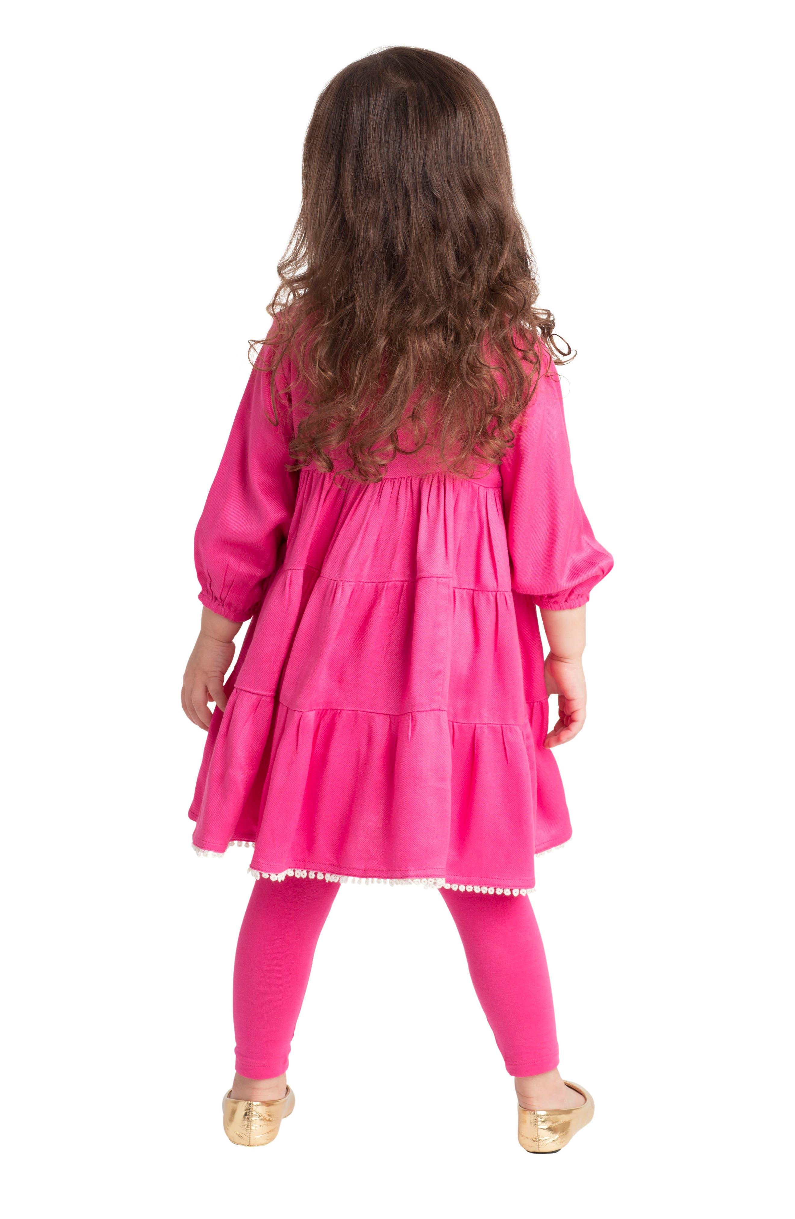 Alternate Image 4  - Masalababy Gypsy Rose Dress (Baby Girls)