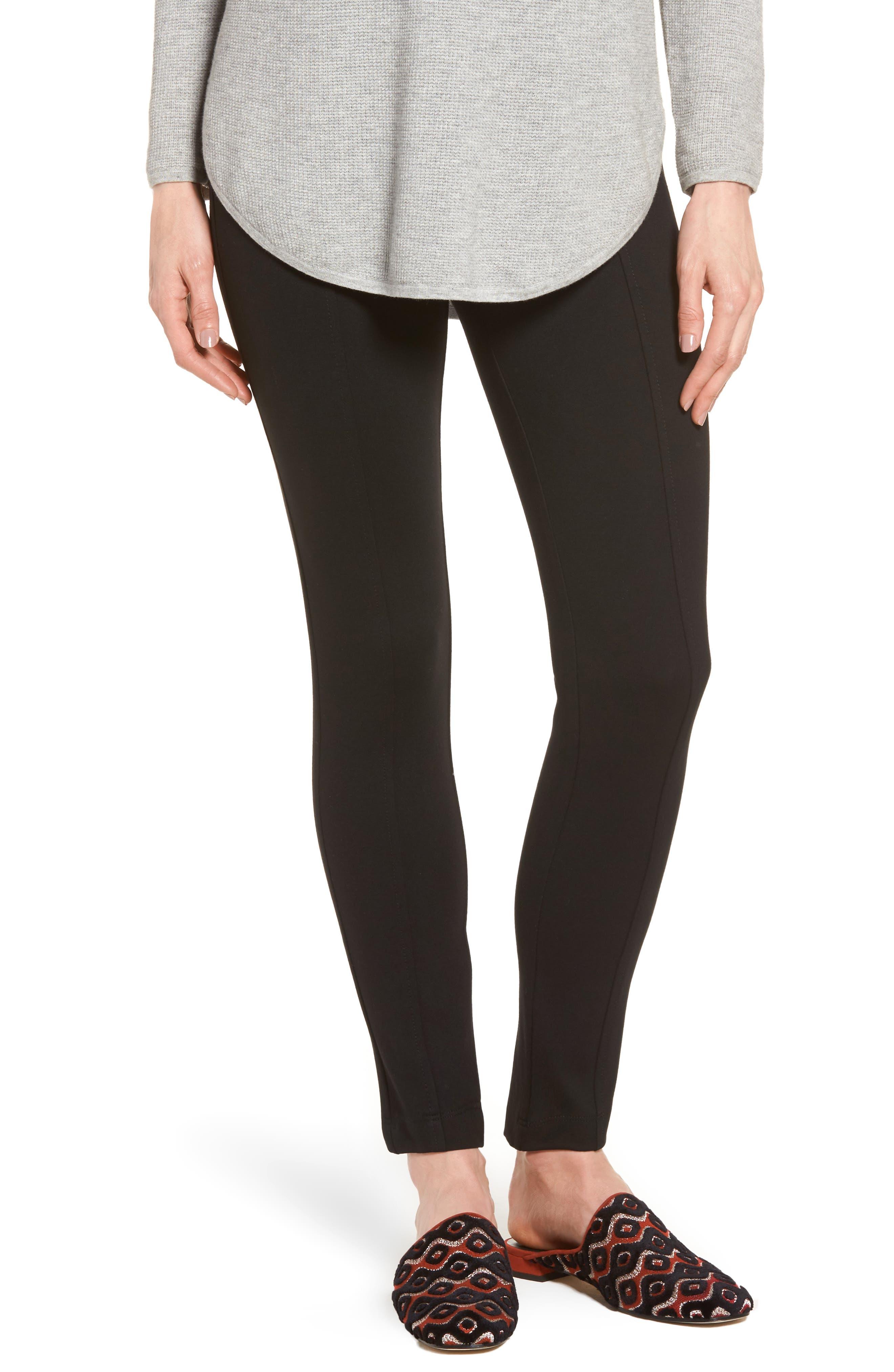 Compression Slim Leg Pants,                         Main,                         color, Black