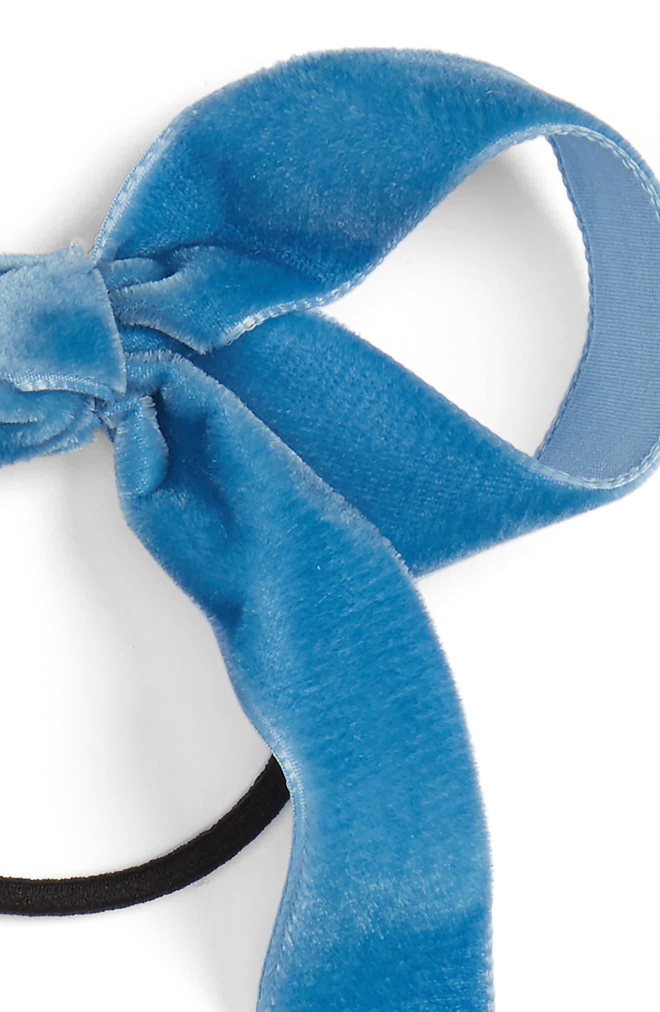 Alternate Image 2  - Cara Velvet Bow Hair Band
