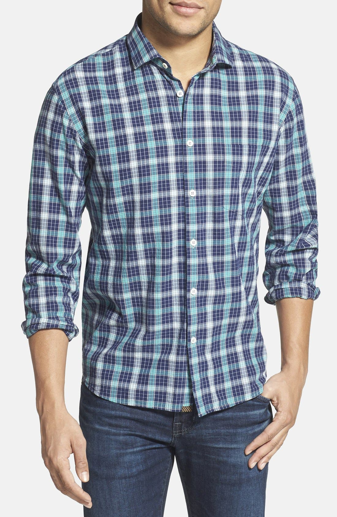 Alternate Image 1 Selected - Billy Reid 'John T' Standard Fit Plaid Sport Shirt