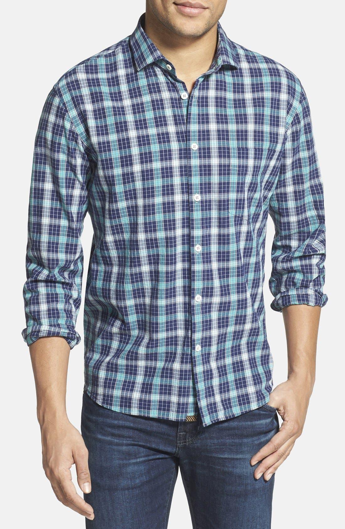 Main Image - Billy Reid 'John T' Standard Fit Plaid Sport Shirt