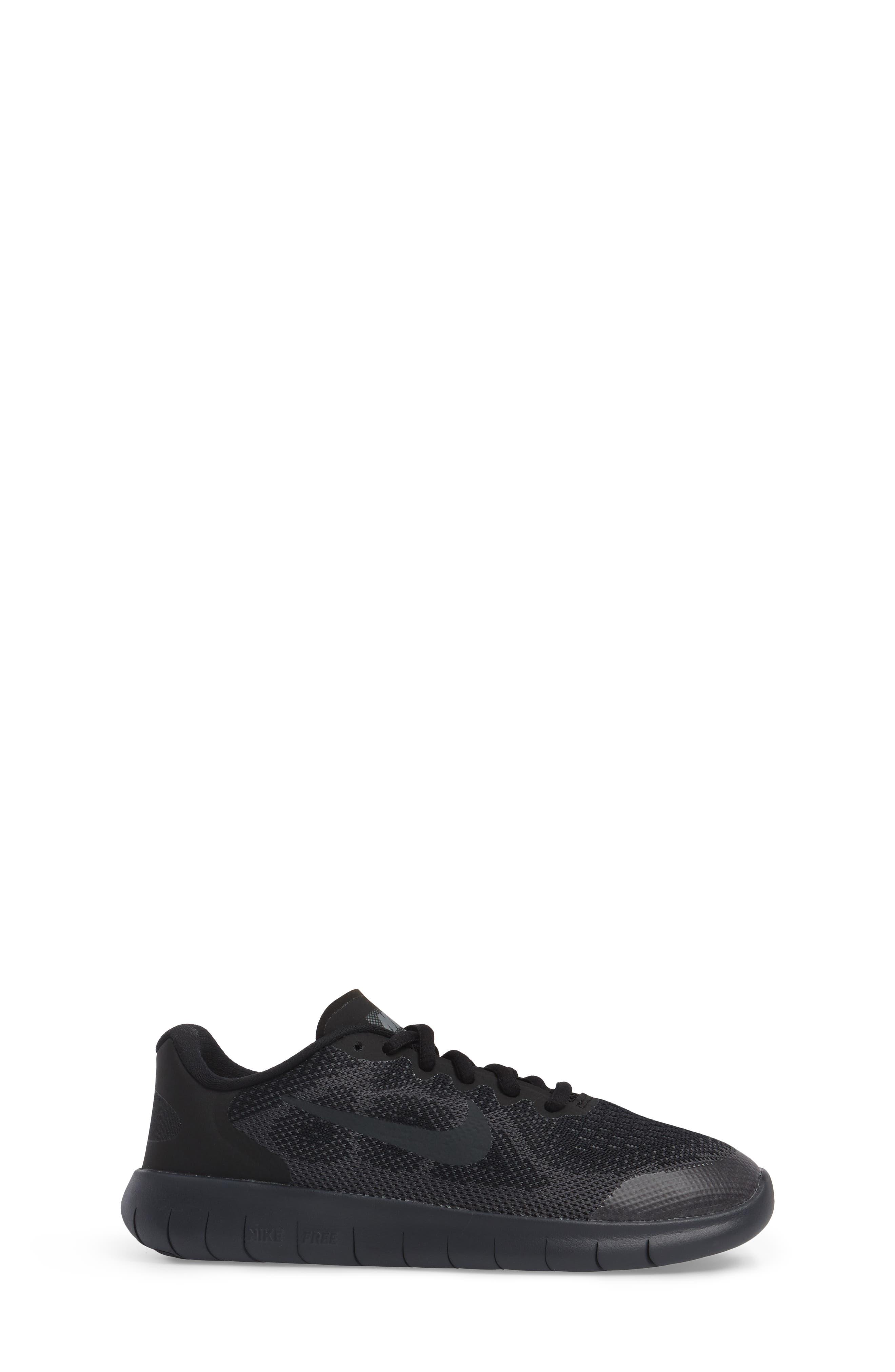 Free RN Running Shoe,                             Alternate thumbnail 3, color,                             Black/ Anthracite/ Dark Grey