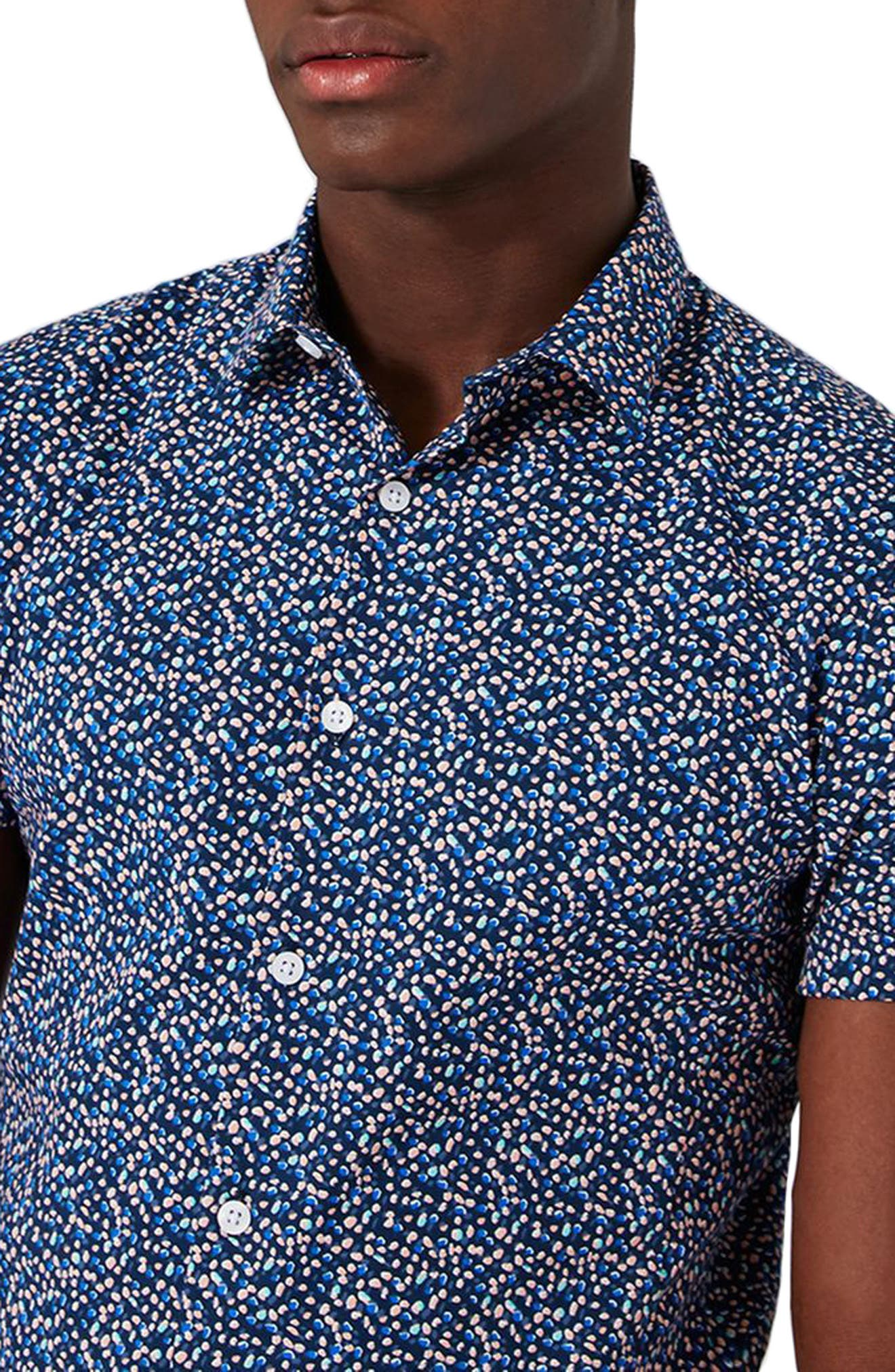 Alternate Image 4  - Topman Blotch Print Shirt
