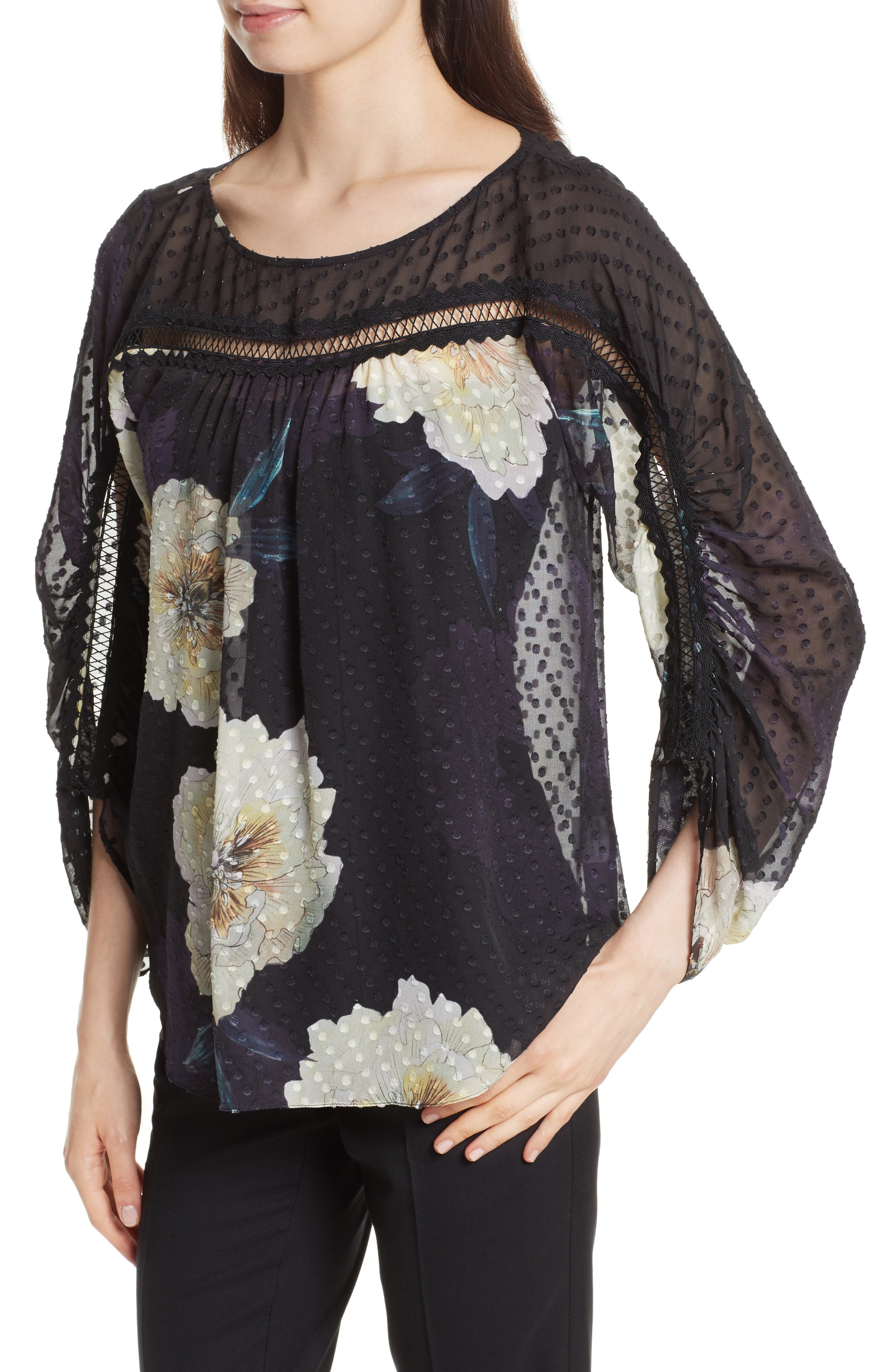 Alternate Image 4  - Tracy Reese Silk Blossom Blouse