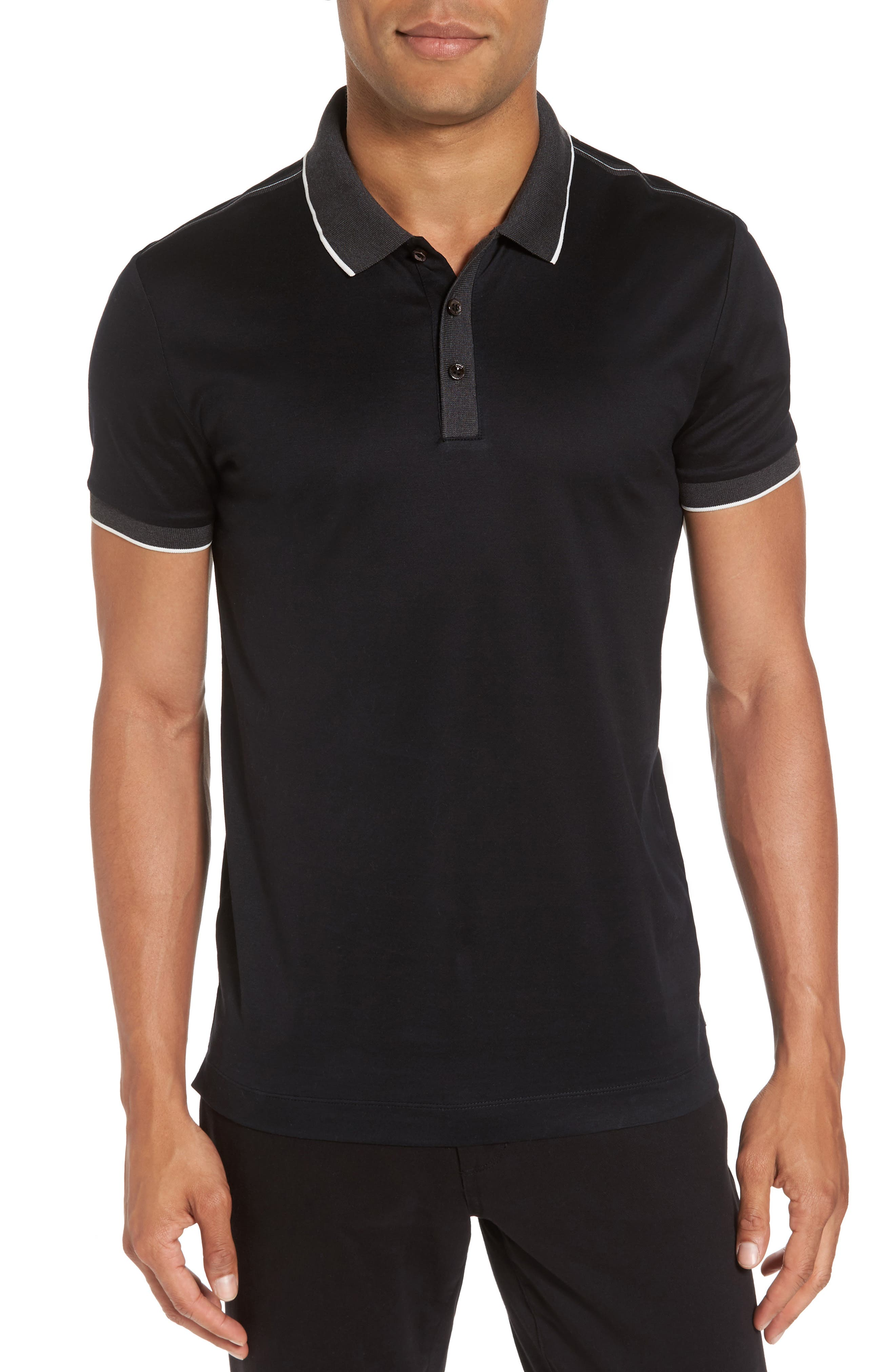 BOSS Orange Phillipson Slim Fit Tipped Polo