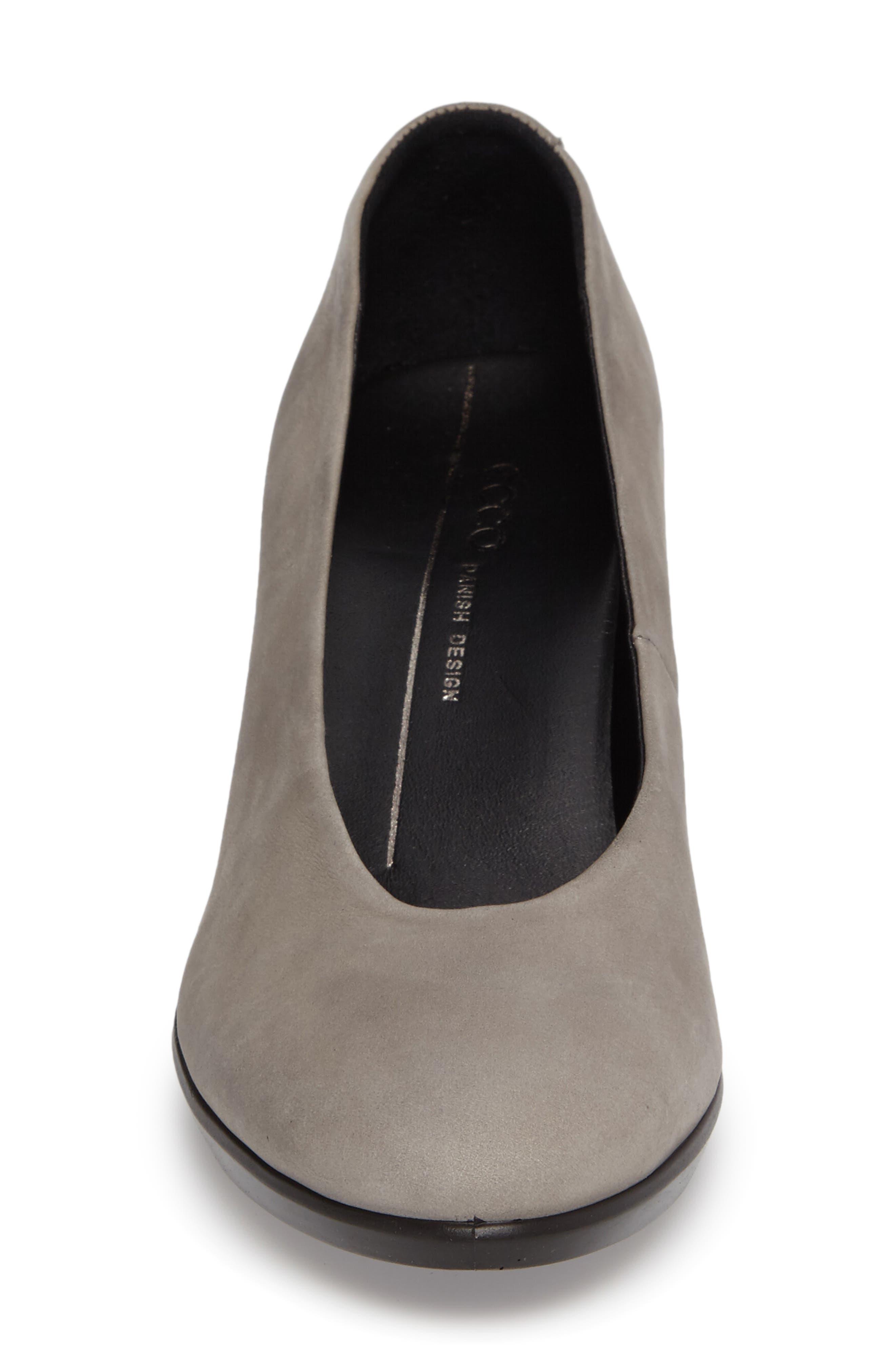 Shape 55 Plateau Pump,                             Alternate thumbnail 4, color,                             Warm Grey Leather