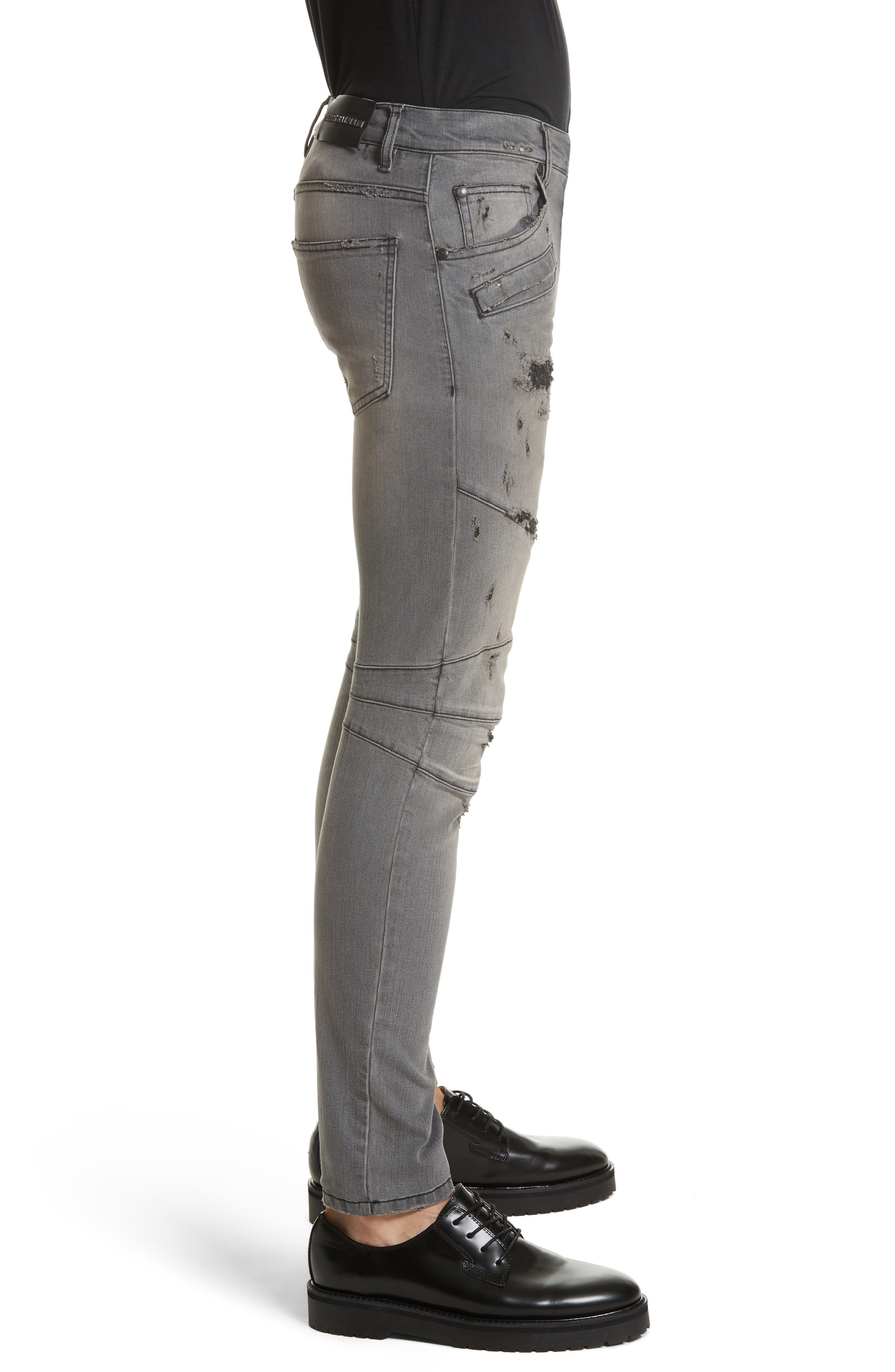 Alternate Image 3  - Pierre Balmain Distressed Moto Jeans