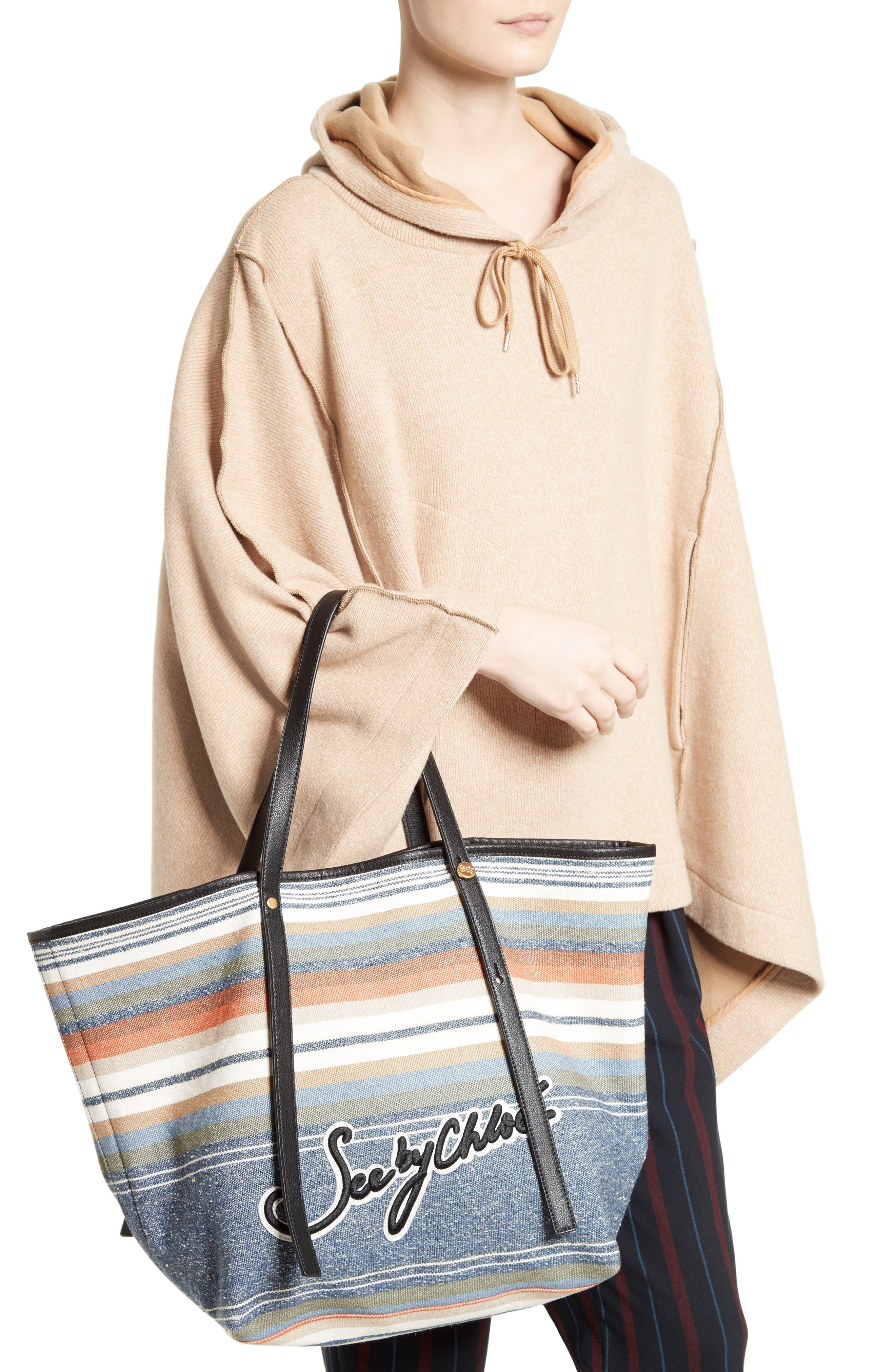 Alternate Image 2  - See by Chloé Stripe Canvas Tote