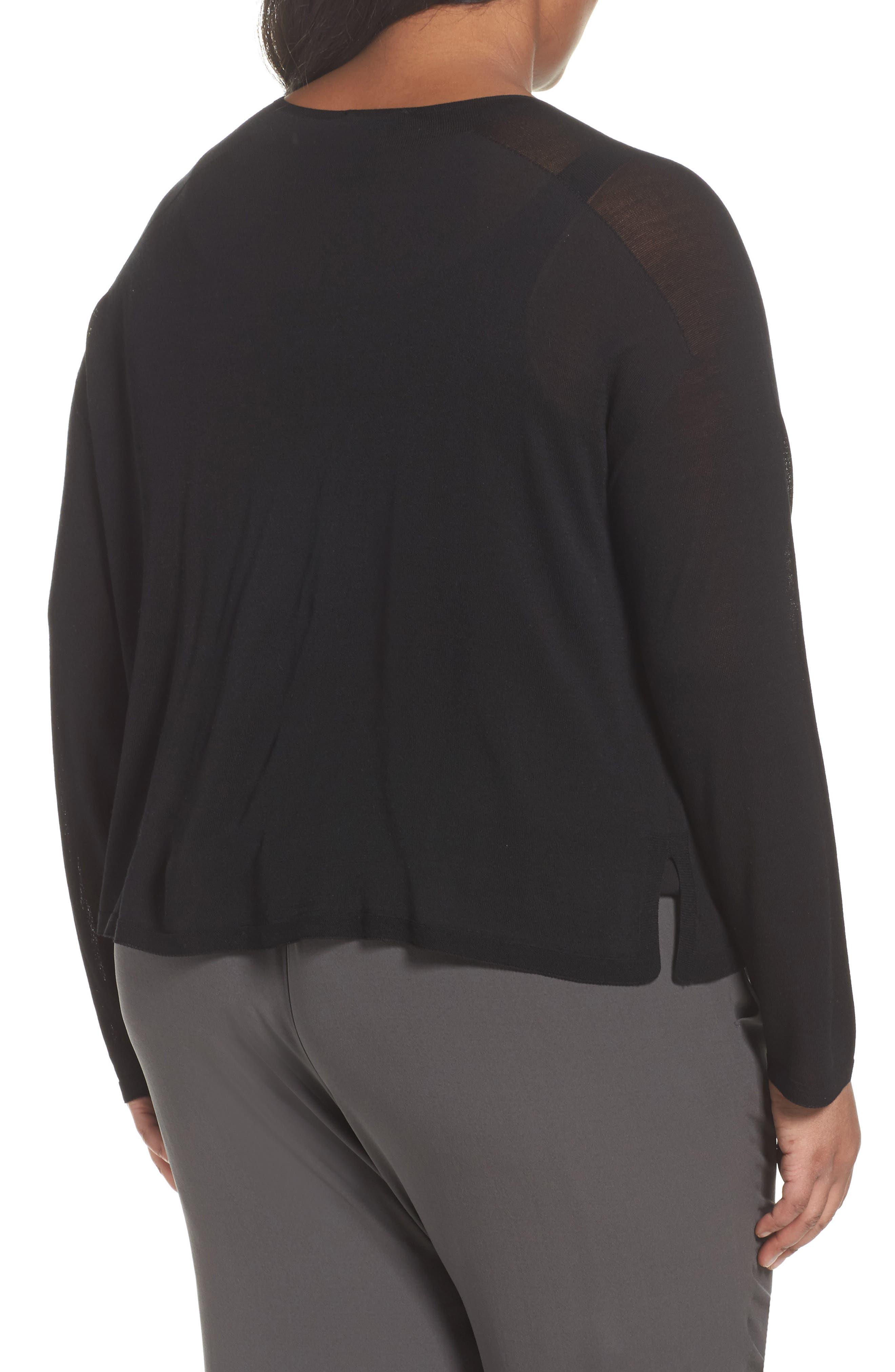 Alternate Image 2  - Eileen Fisher Tencel® Knit Top (Plus Size)