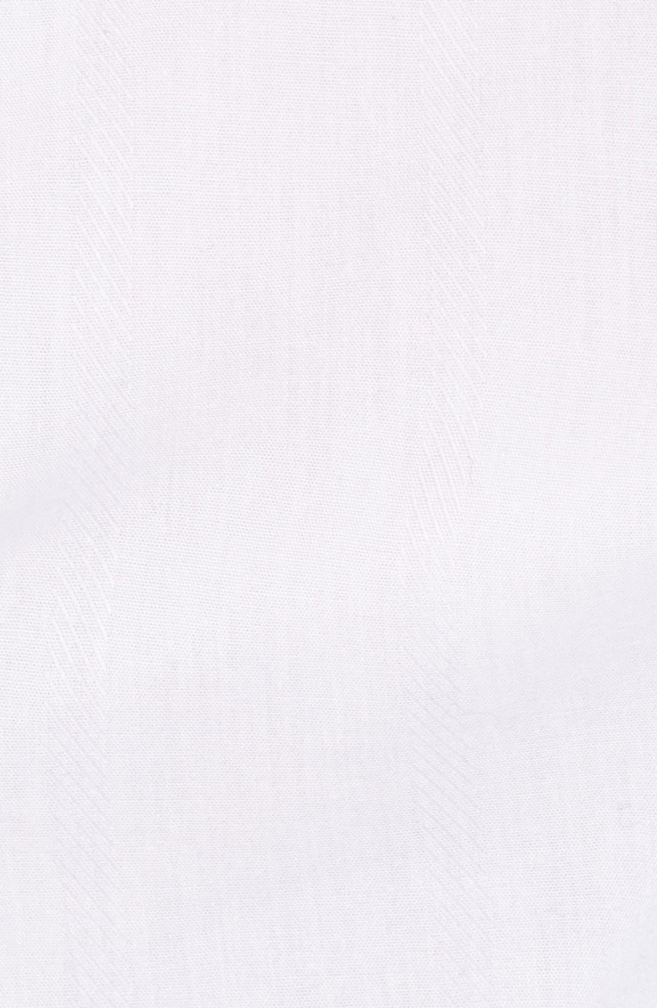 Bow Sleeve Cold Shoulder Shirt,                             Alternate thumbnail 5, color,                             White