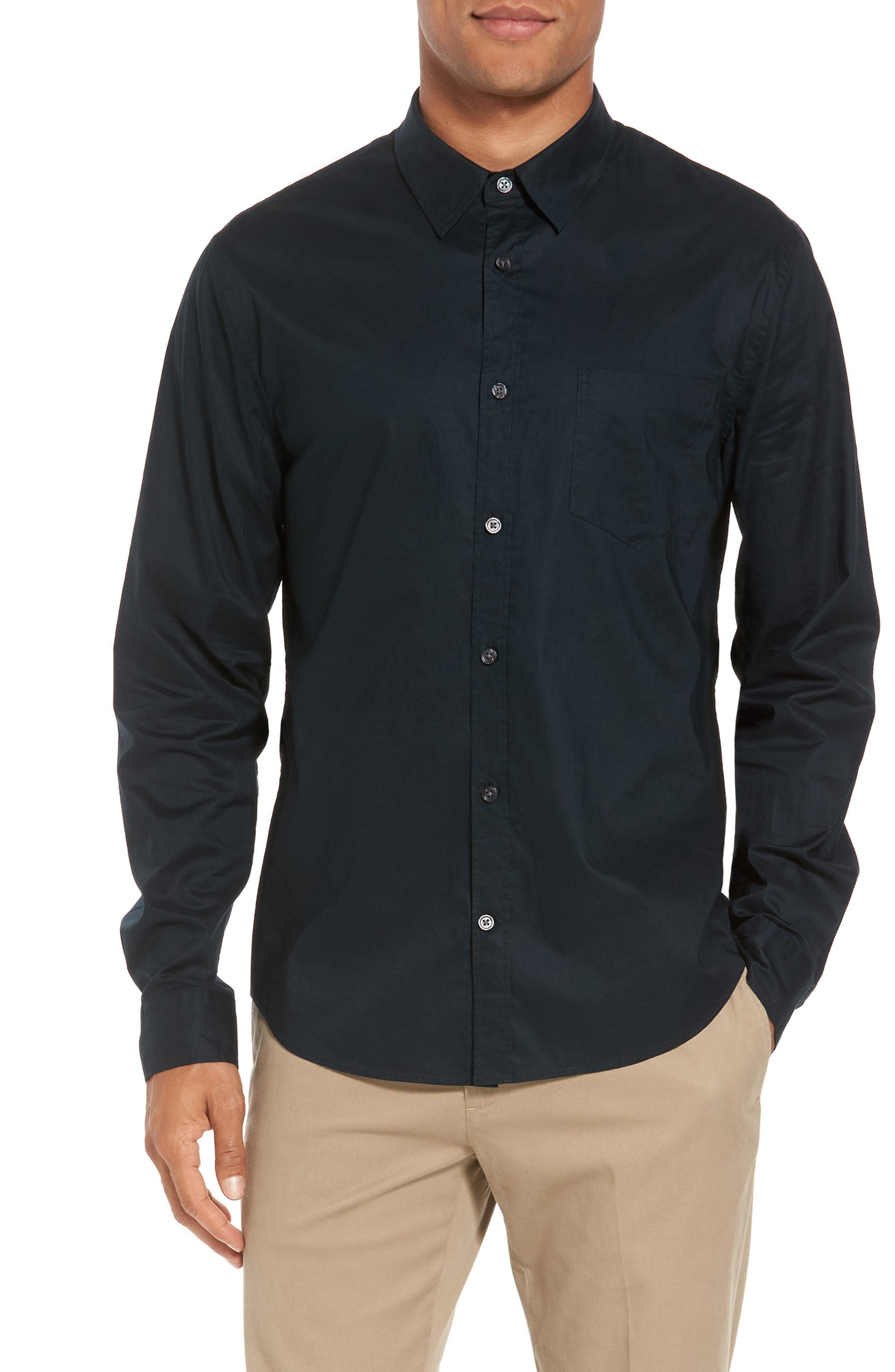 Sport Shirt,                         Main,                         color, Midnight Forest