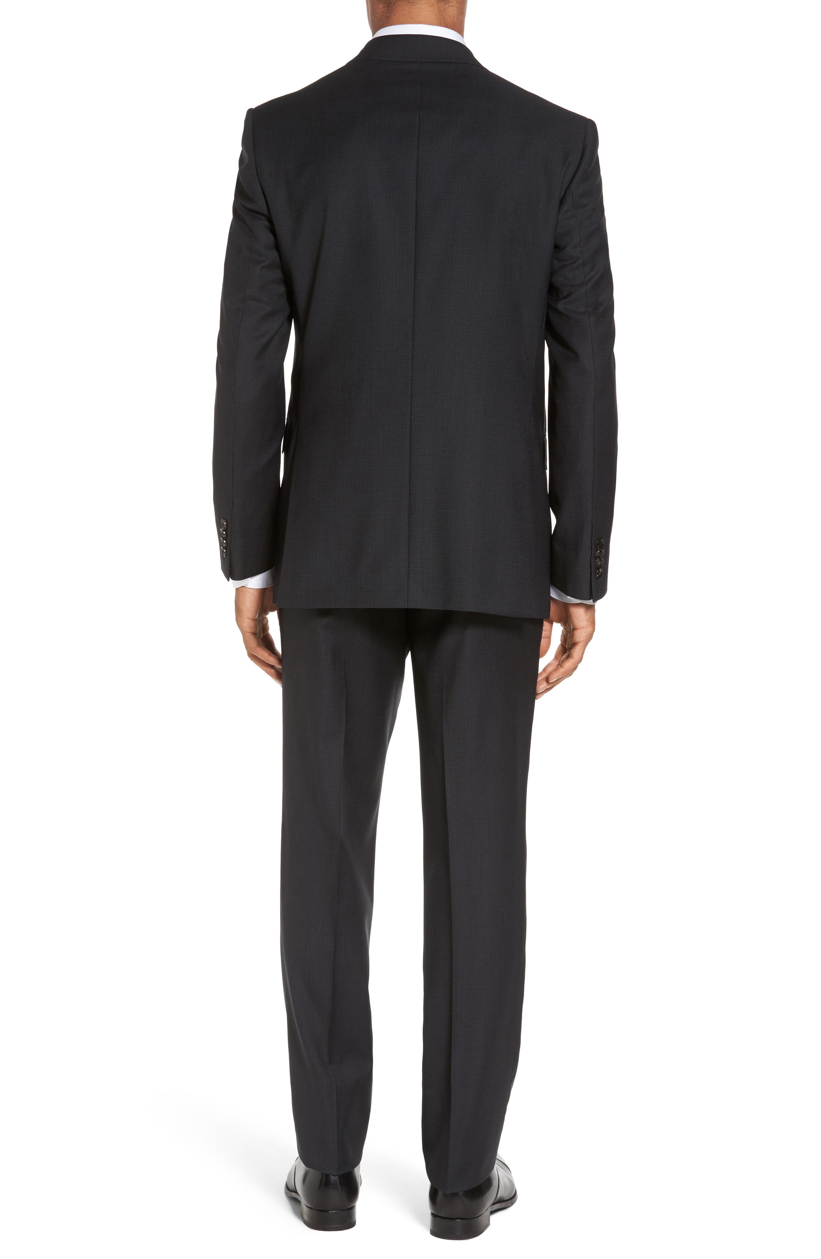 Jay Trim Fit Solid Wool Suit,                             Alternate thumbnail 2, color,                             Black Charcoal