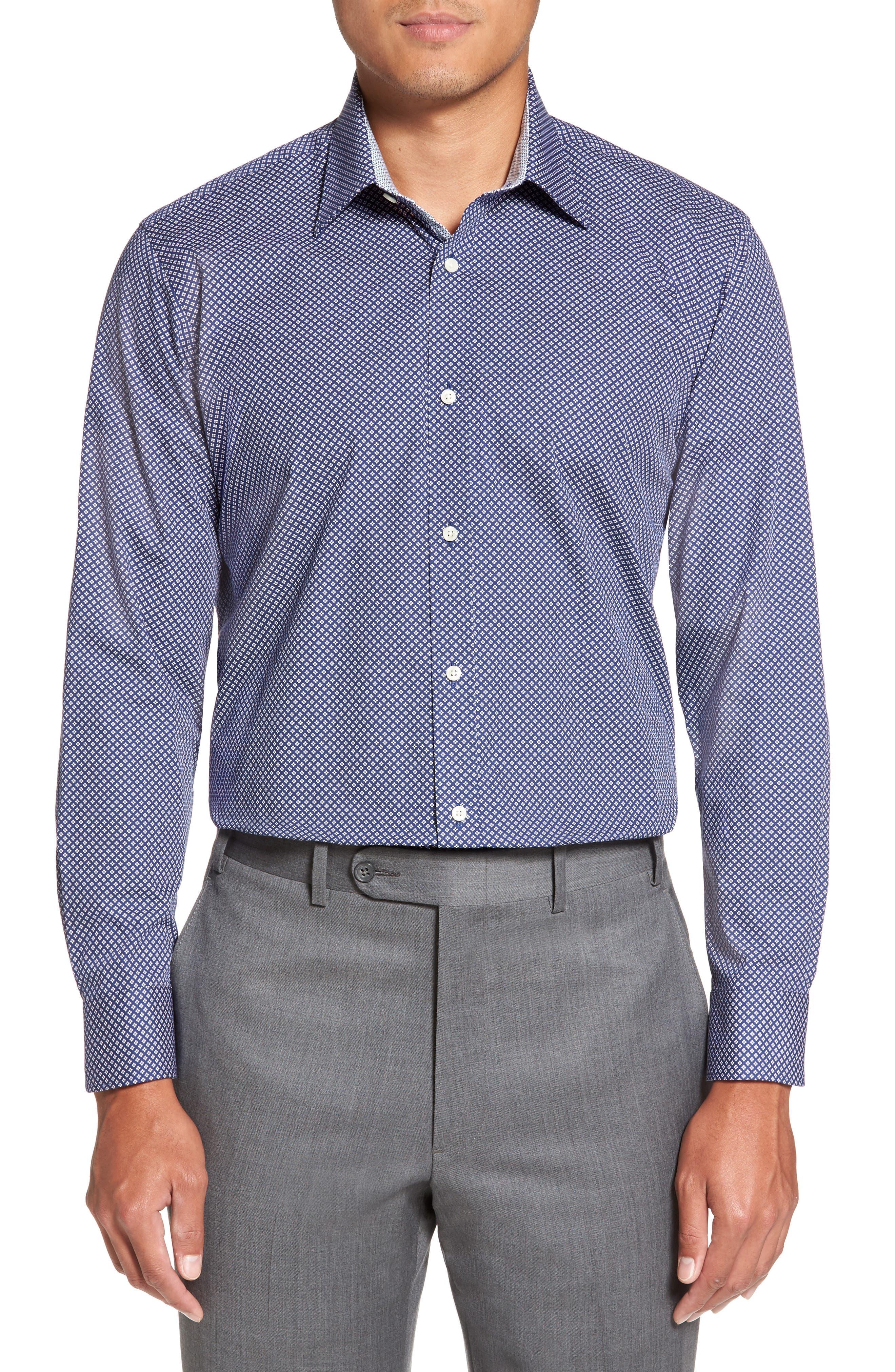 Alternate Image 2  - Ted Baker London Agra Trim Fit Geometric Dress Shirt