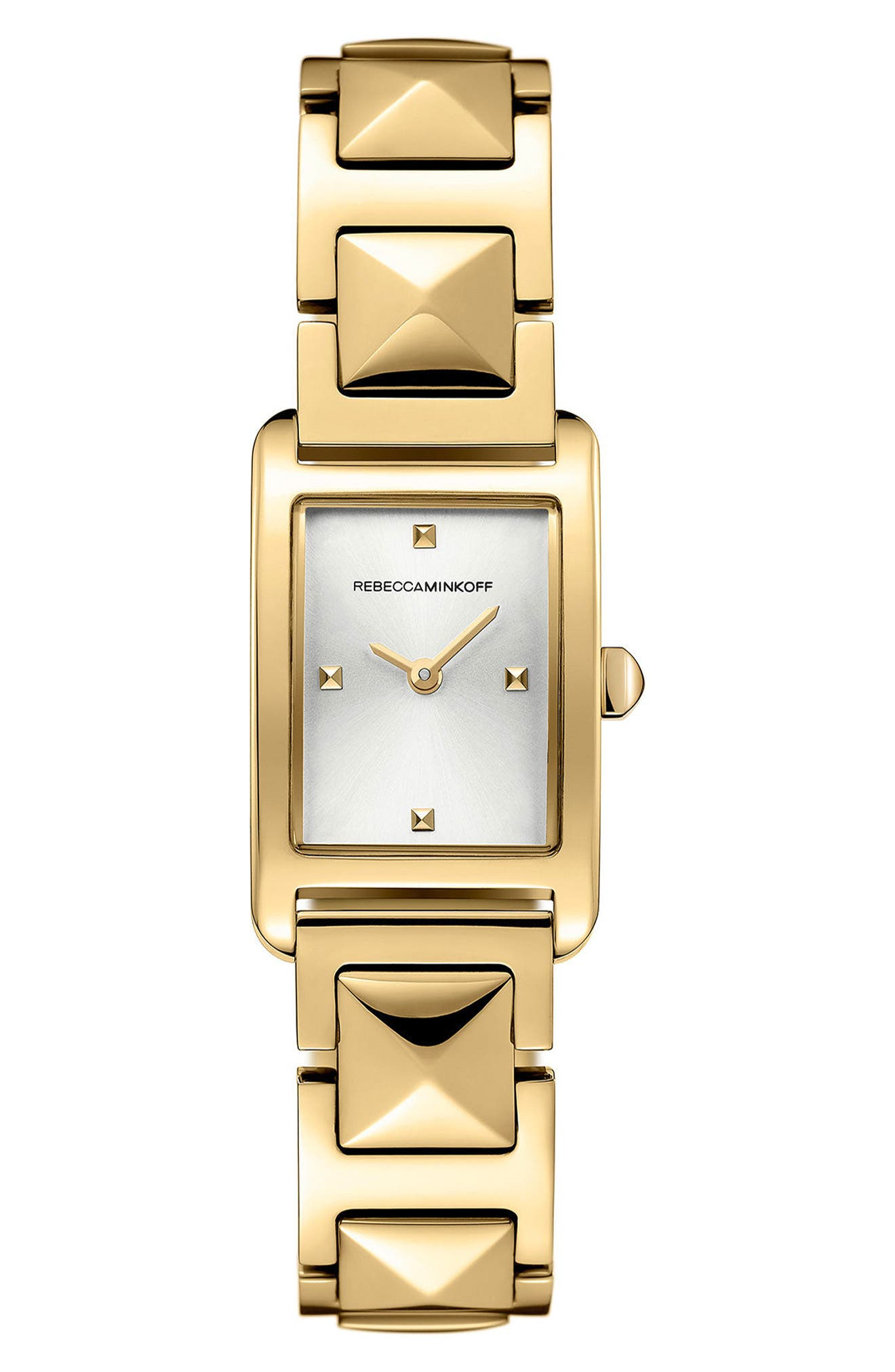 Moment Bracelet Watch, 19mm x 30mm,                         Main,                         color, Gold/ Silver/ Gold