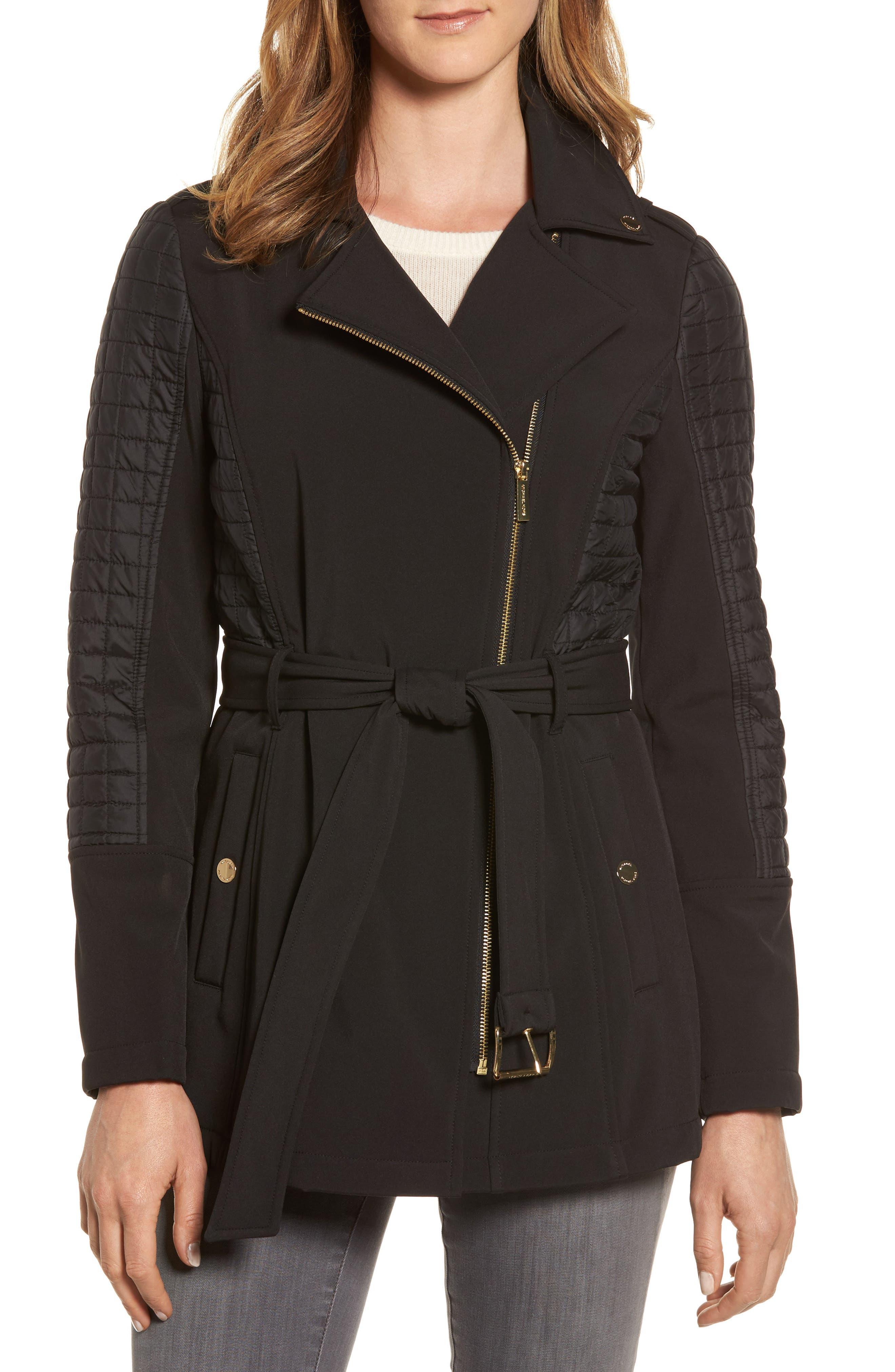 Main Image - MICHAEL Michael Kors Asymmetrical Zip Coat