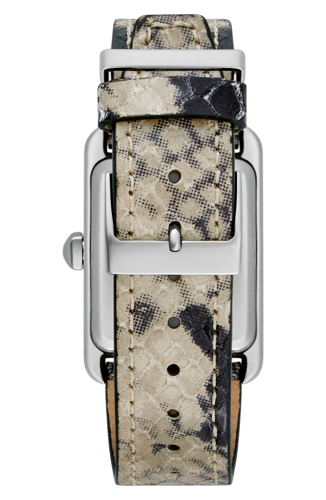Alternate Image 2  - Rebecca Minkoff Moment Leather Strap Watch, 27mm x 39mm