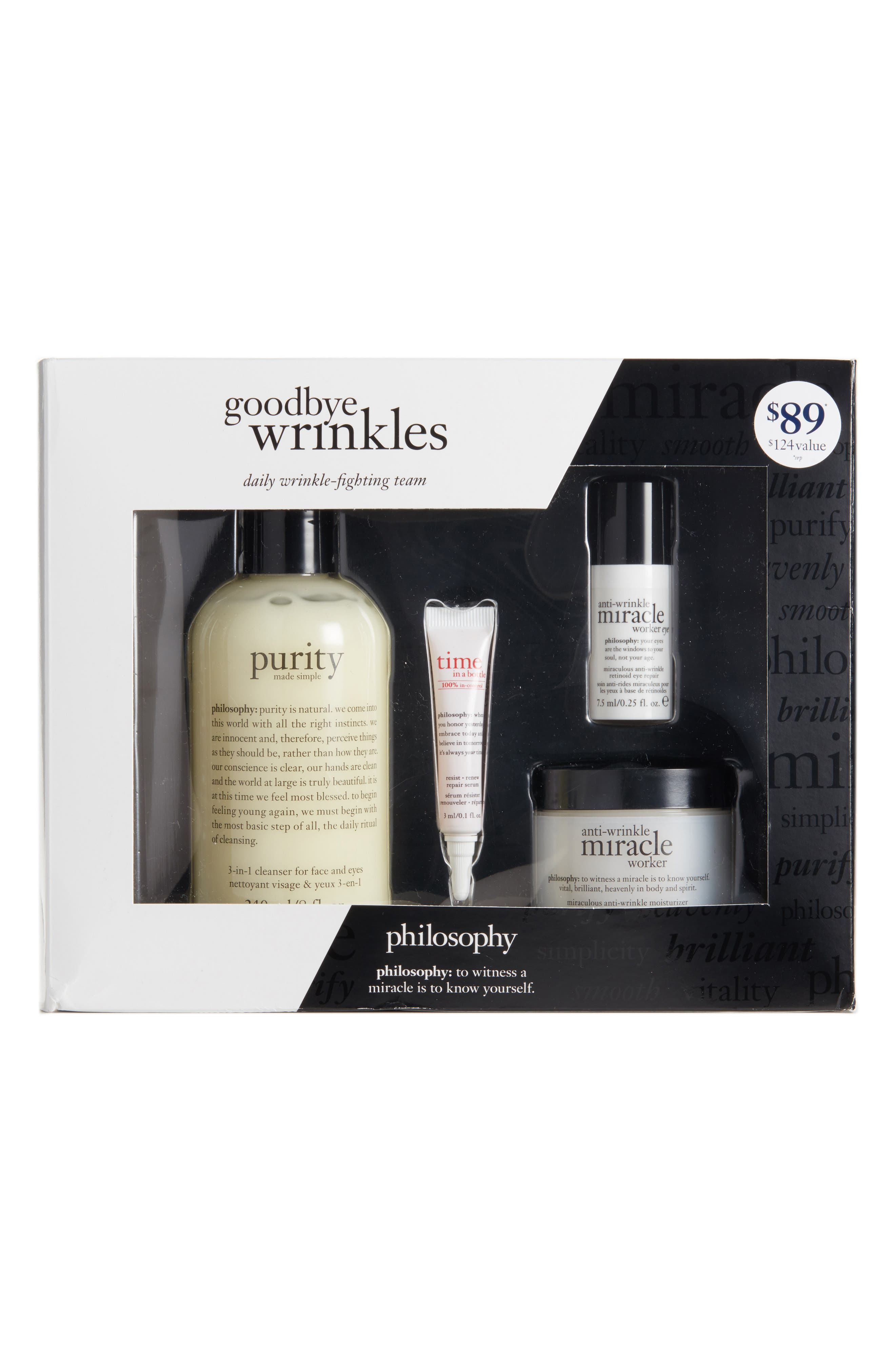 philosophy goodbye wrinkles set ($124 Value)