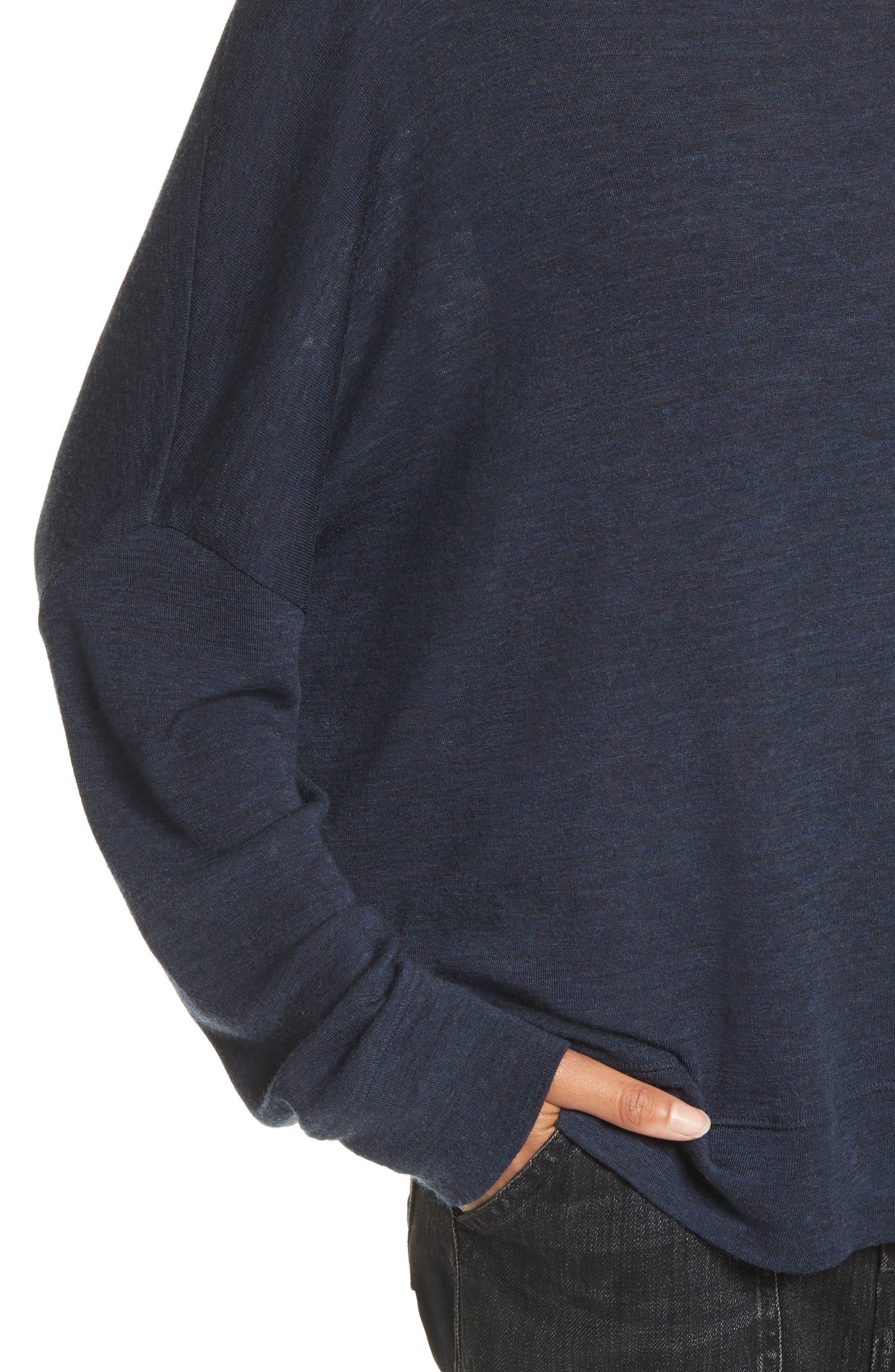 Wool Pullover,                             Alternate thumbnail 5, color,                             Coastal