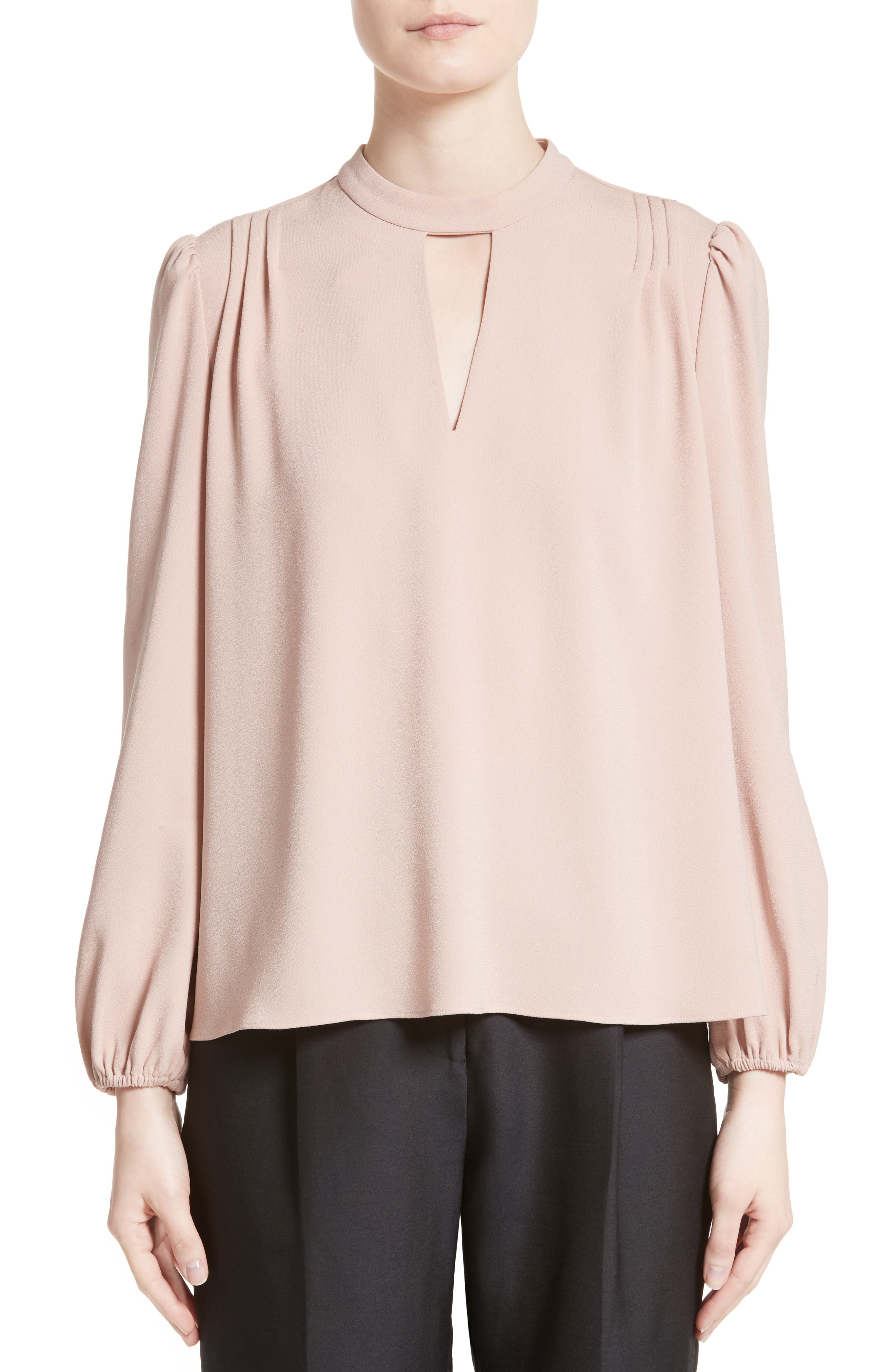 Co Crepe Peasant Blouse