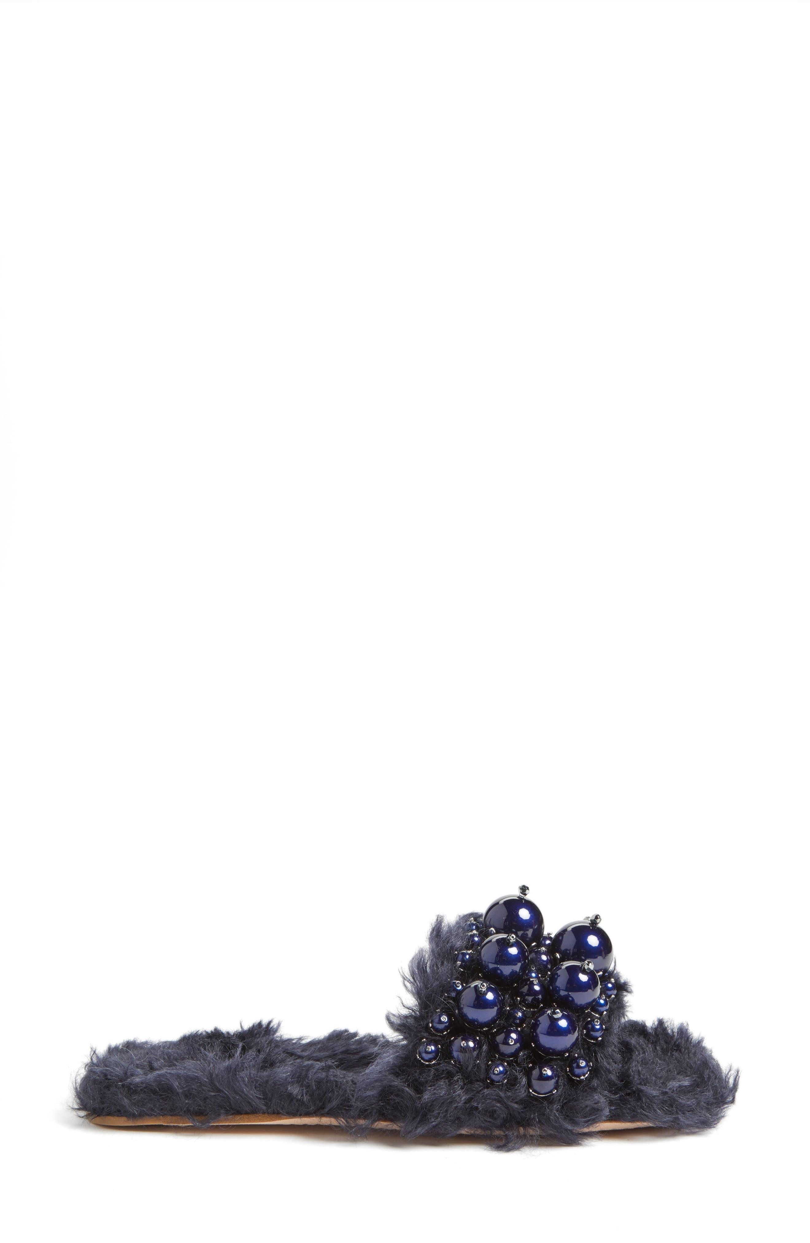 Alternate Image 3  - Miu Miu Embellished Faux Fur Slipper (Women)