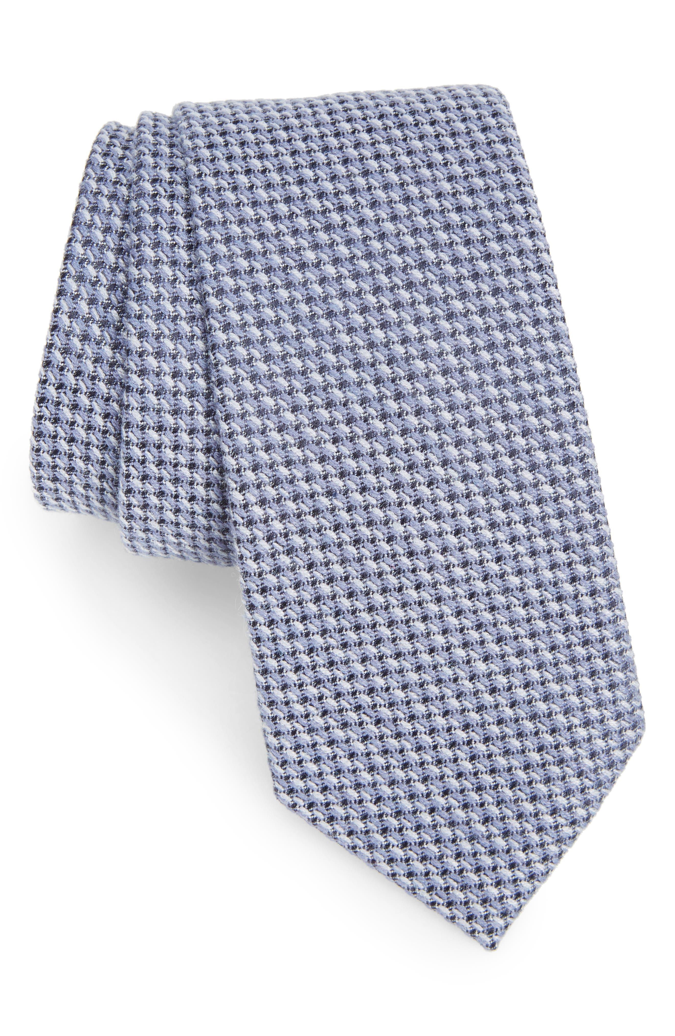 Angora & Silk Tie,                         Main,                         color, Blue