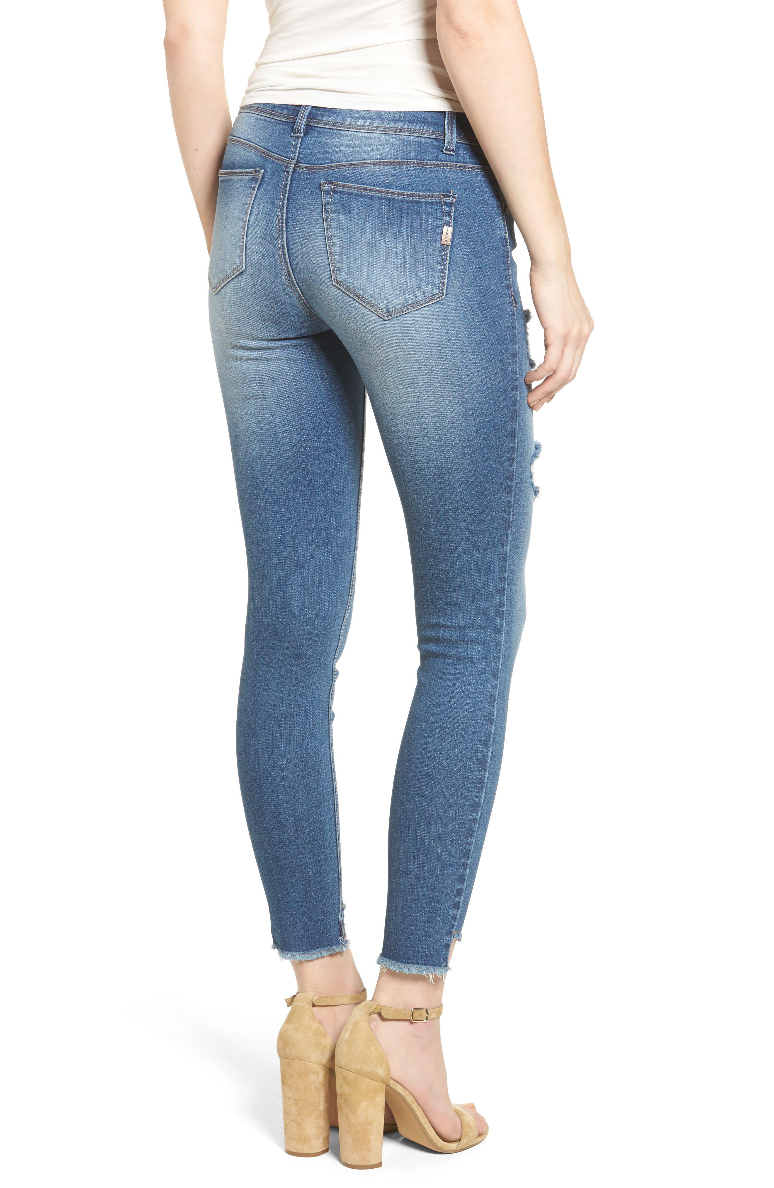 Alternate Image 3  - 1822 Denim Step Hem Skinny Jeans (Greg)