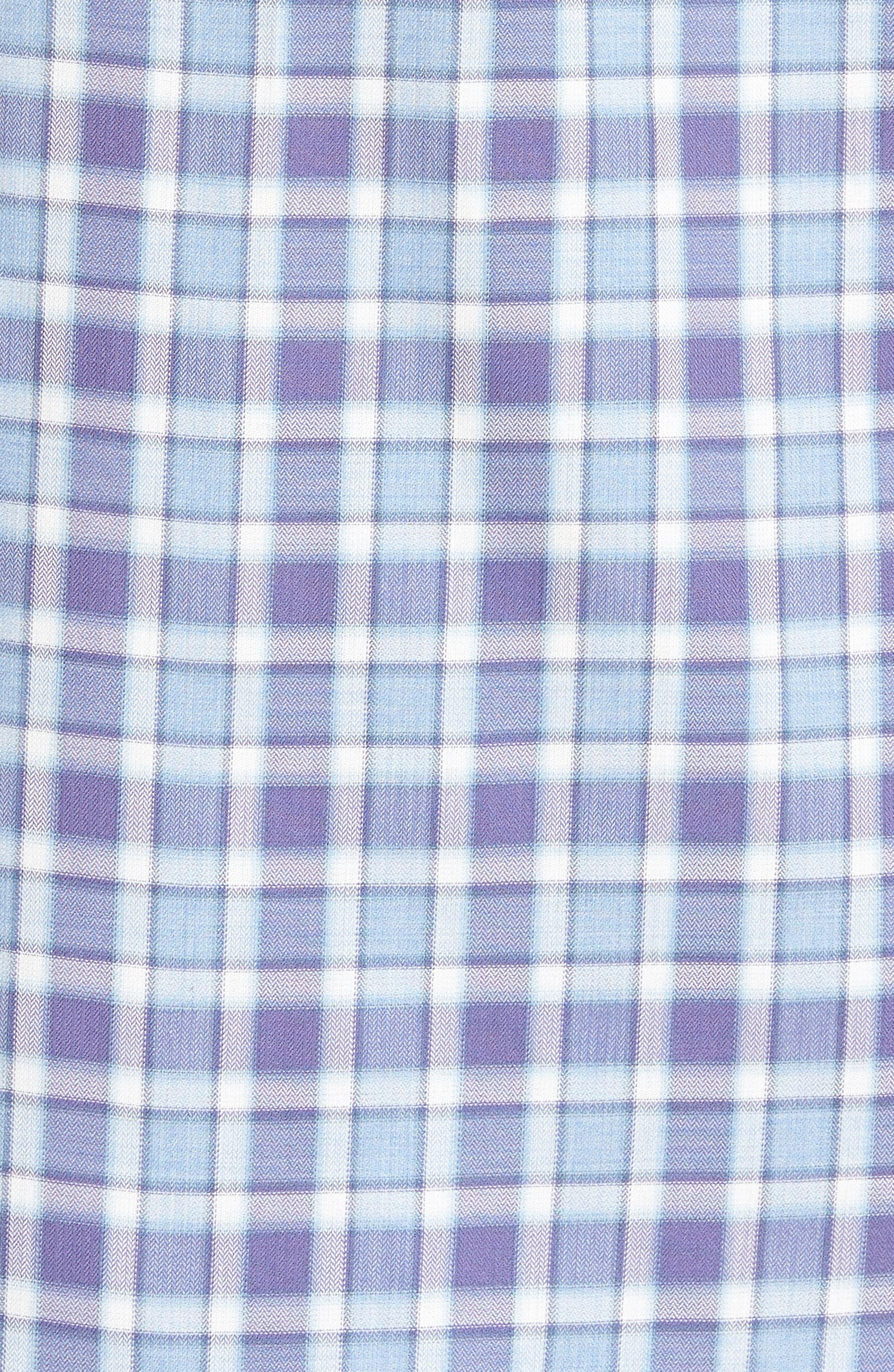 Lobban Slim Fit Check Sport Shirt,                             Alternate thumbnail 5, color,                             Purple