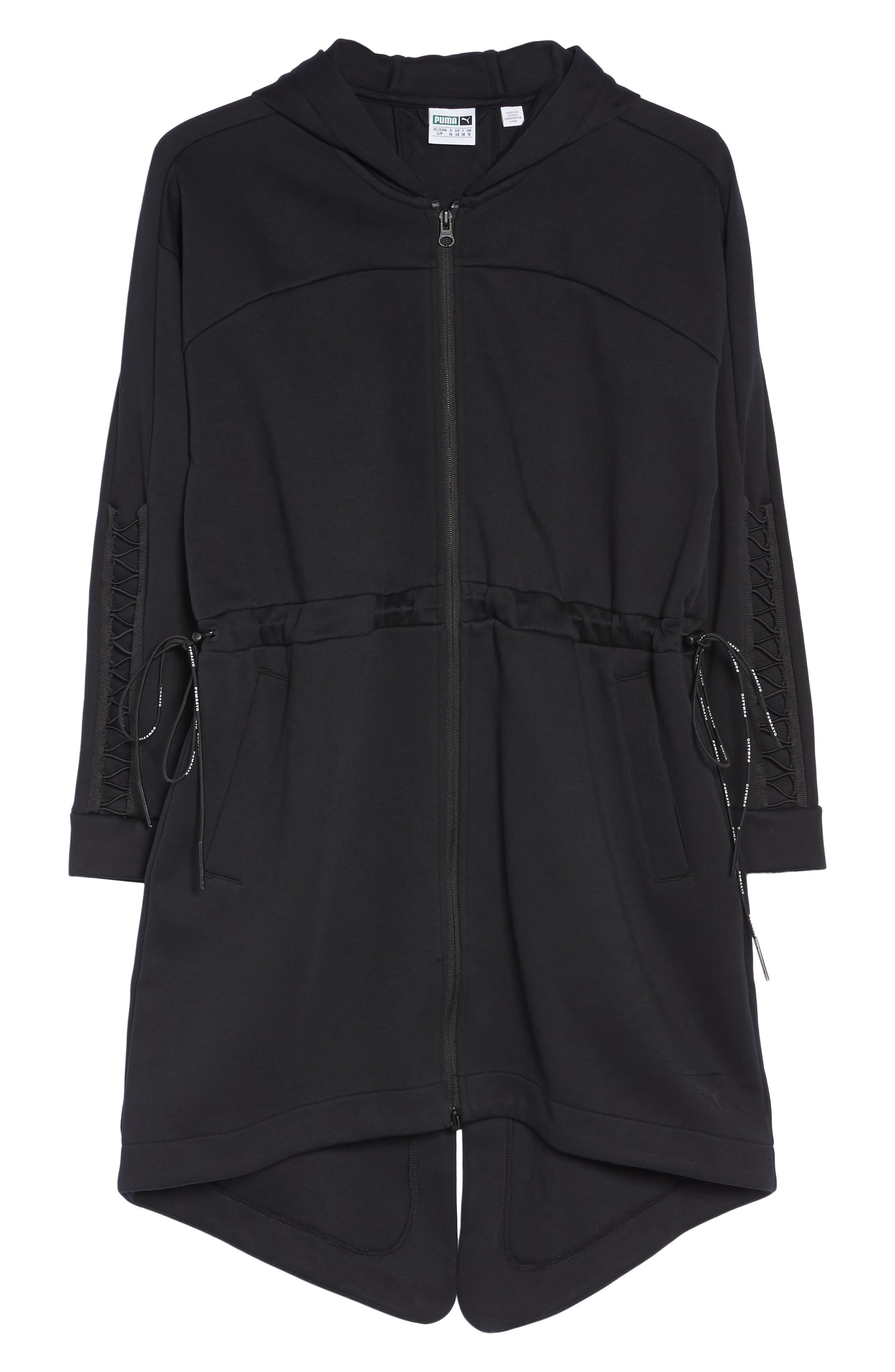 Lacing Midlayer Jacket,                             Alternate thumbnail 6, color,                             Puma Black