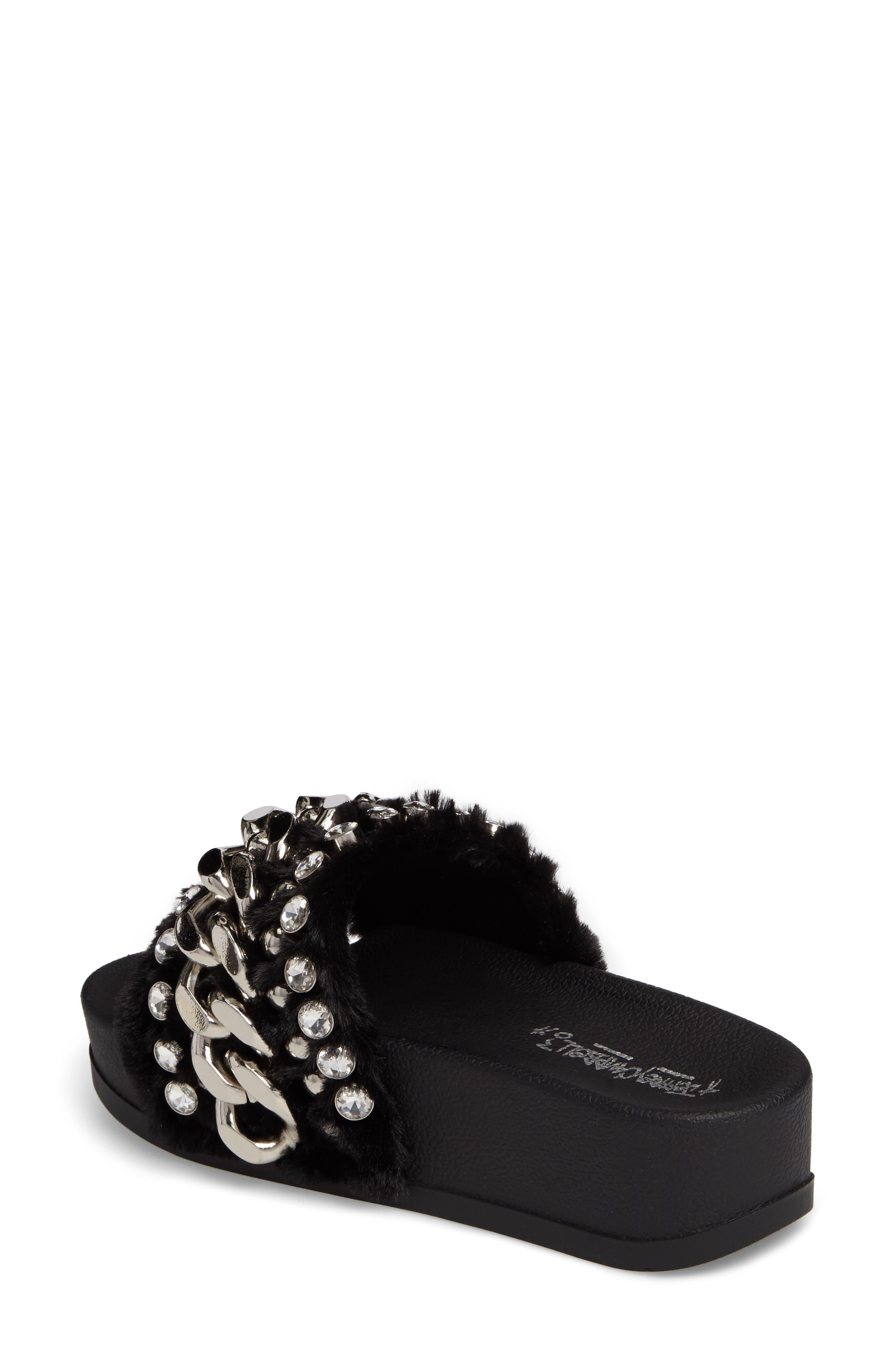 Alternate Image 2  - Jeffrey Campbell Edie Faux Fur Slide Sandal (Women)