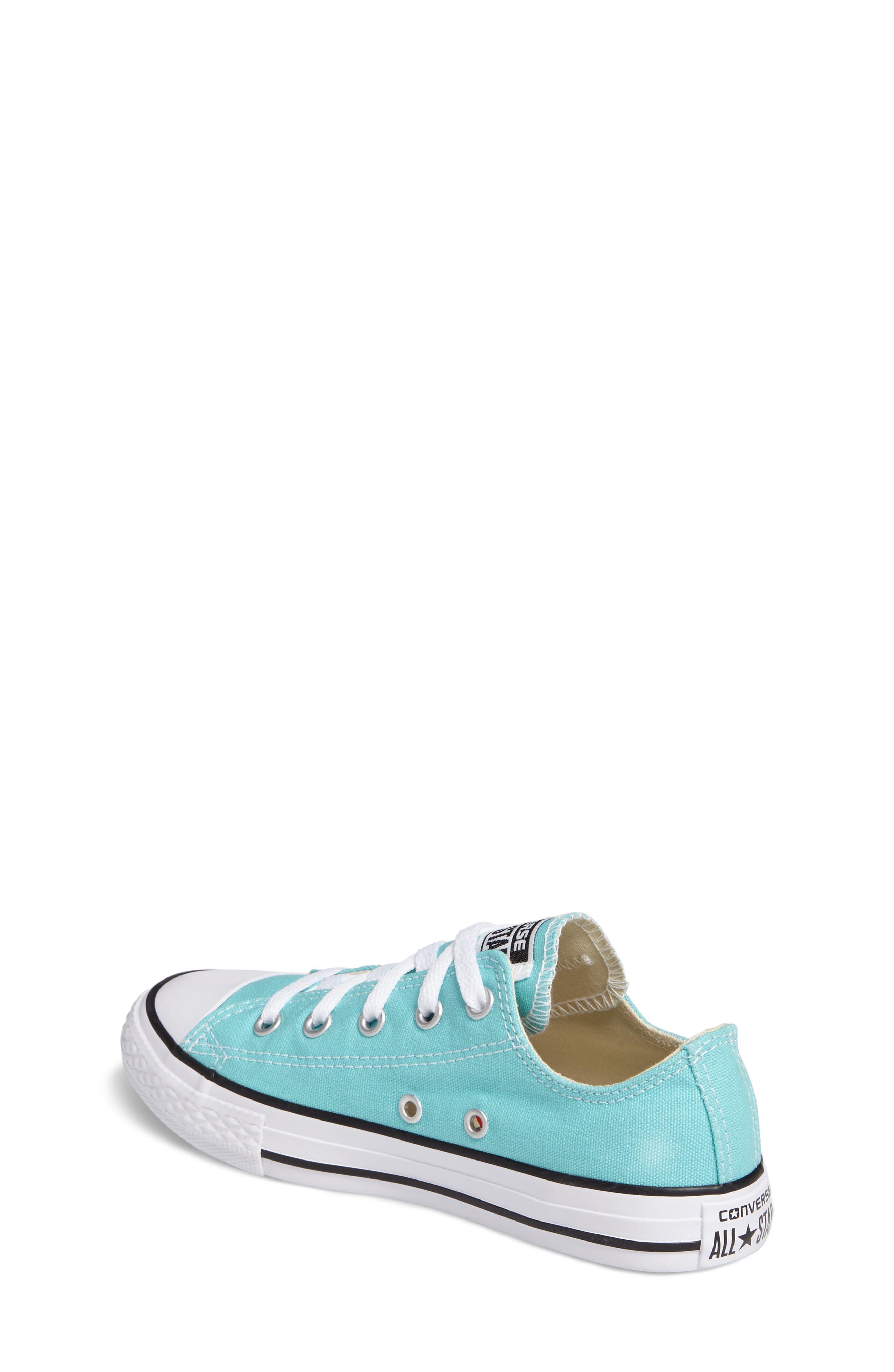 Chuck Taylor<sup>®</sup> All Star<sup>®</sup> Low Top Sneaker,                             Alternate thumbnail 2, color,                             Light Aqua/ Light Aqua