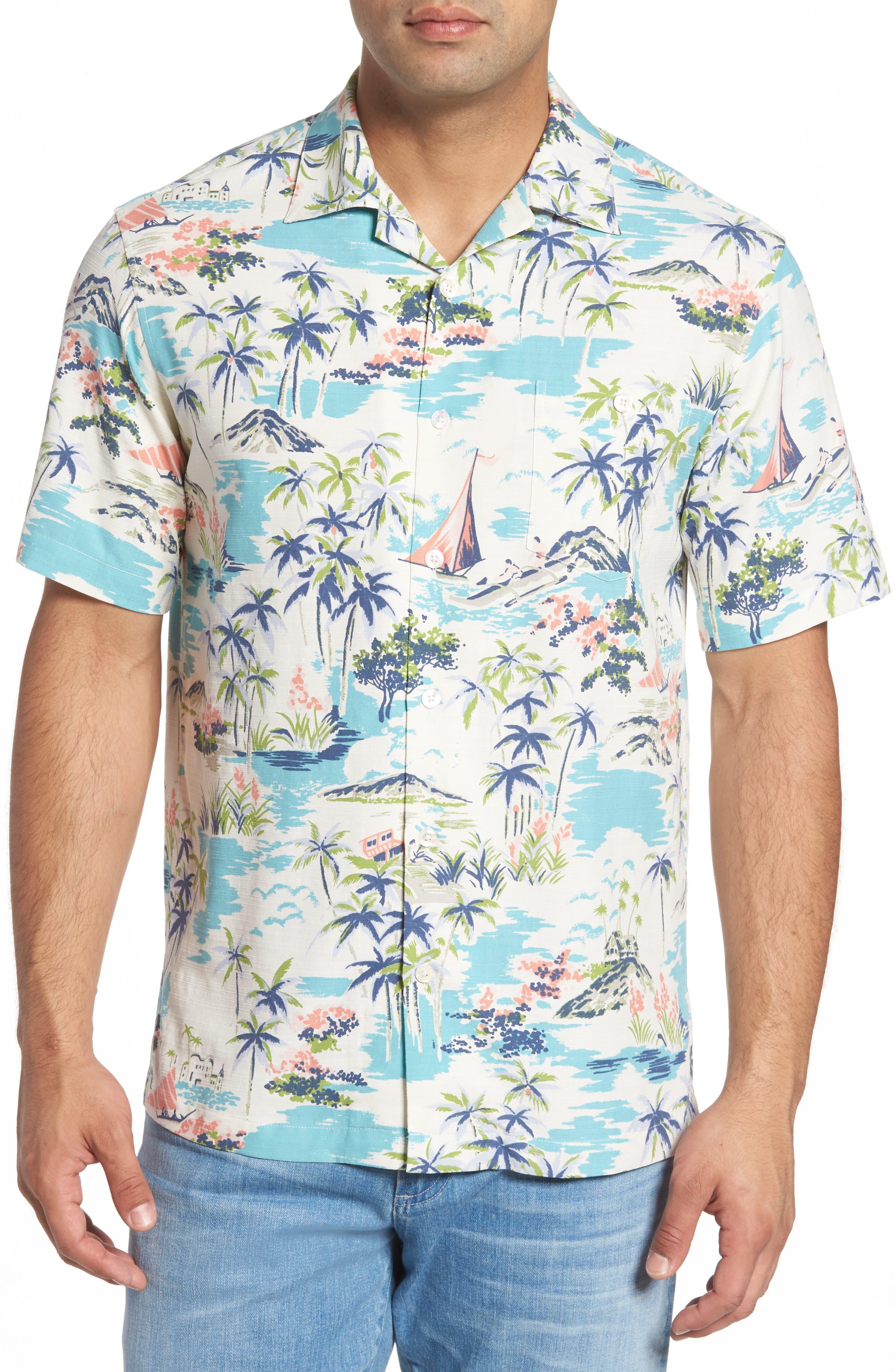 Tori Richard Kauai Silk Blend Camp Shirt