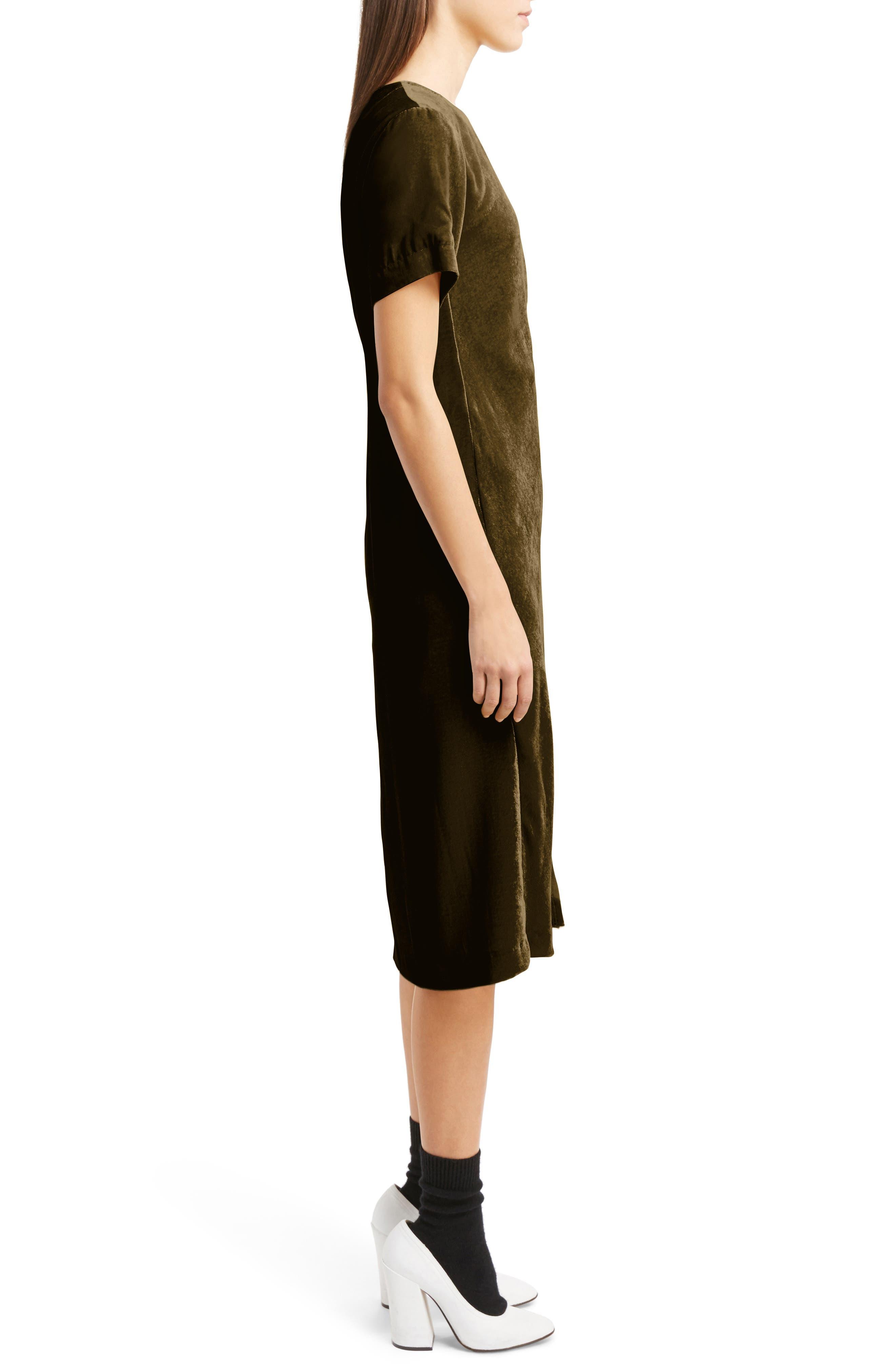 Alternate Image 4  - Dries Van Noten Gathered Velvet Dress