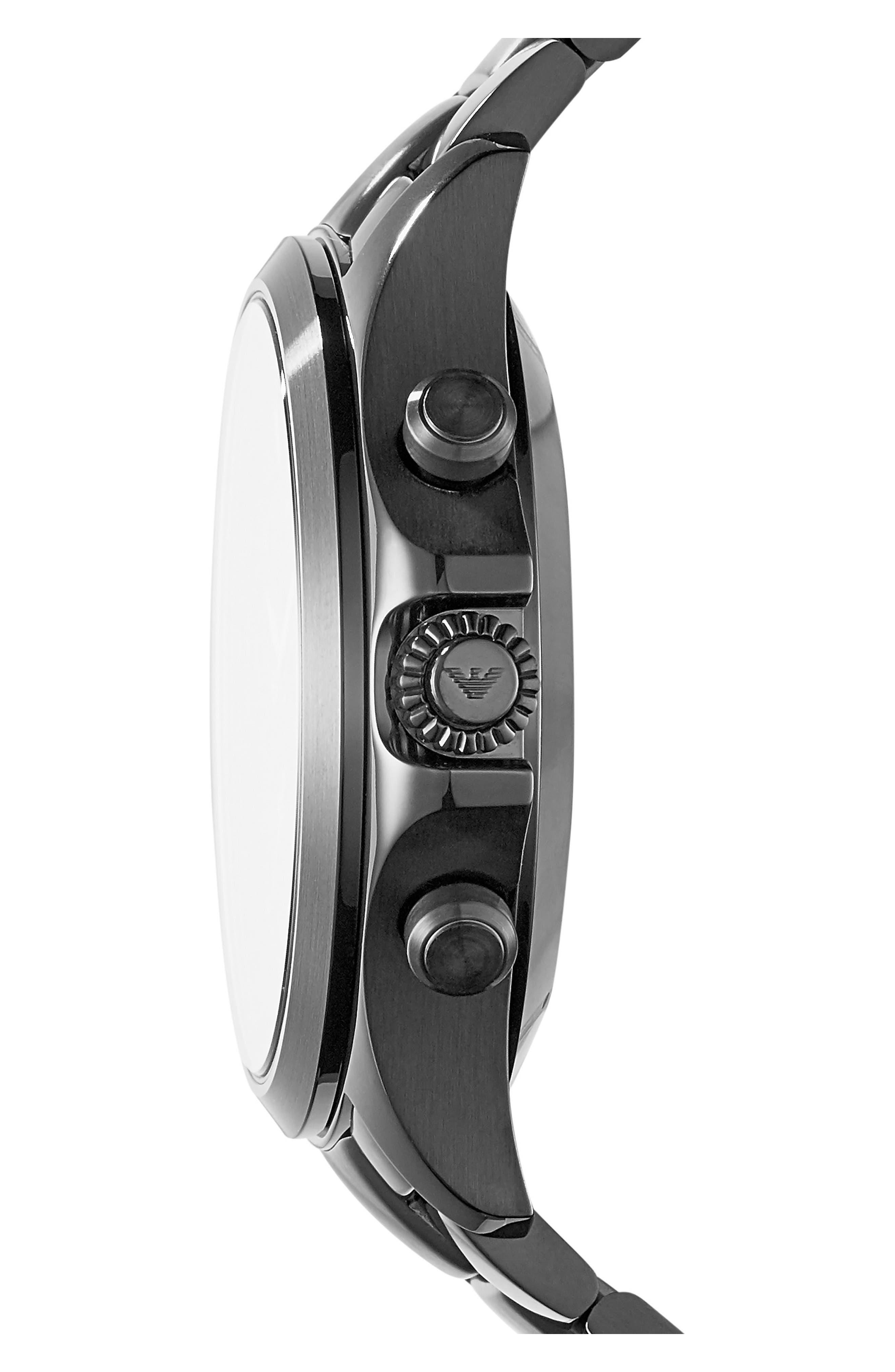 Alternate Image 3  - Emporio Armani Bracelet Hybrid Smartwatch, 43mm