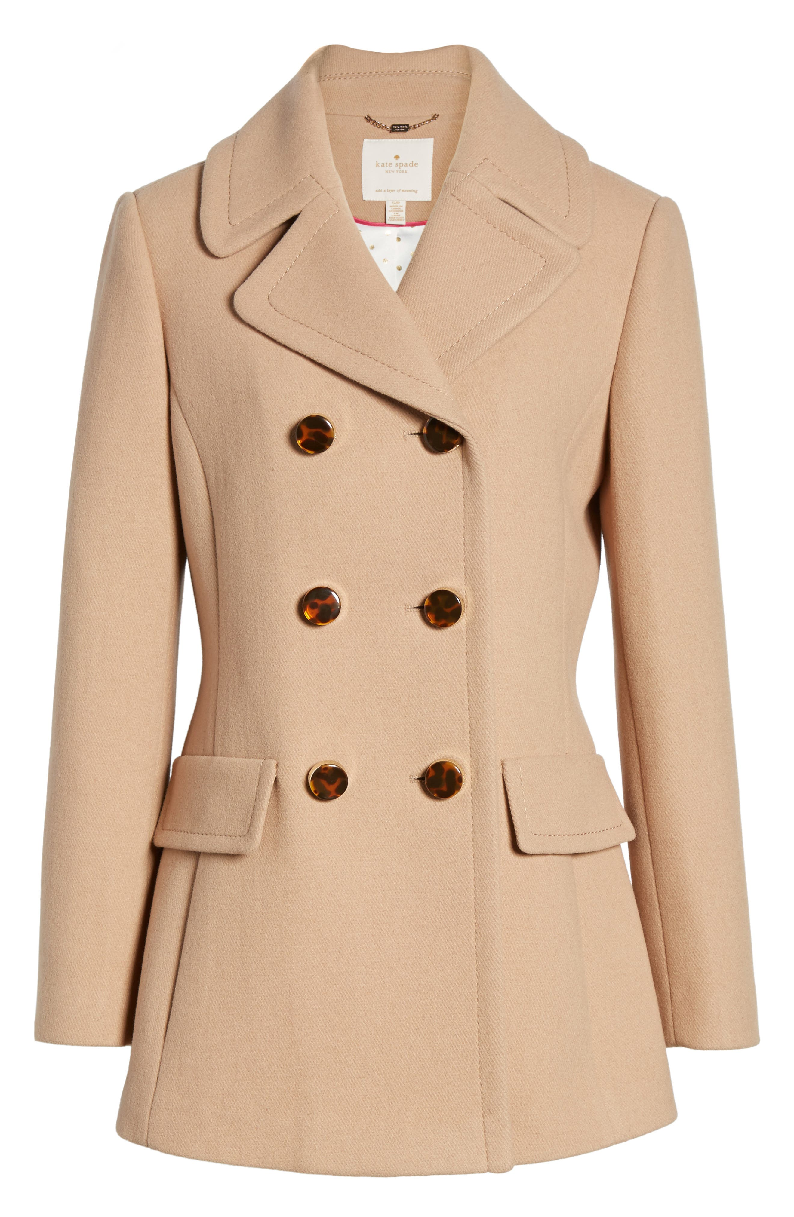 Alternate Image 6  - kate spade new york wool blend peacoat